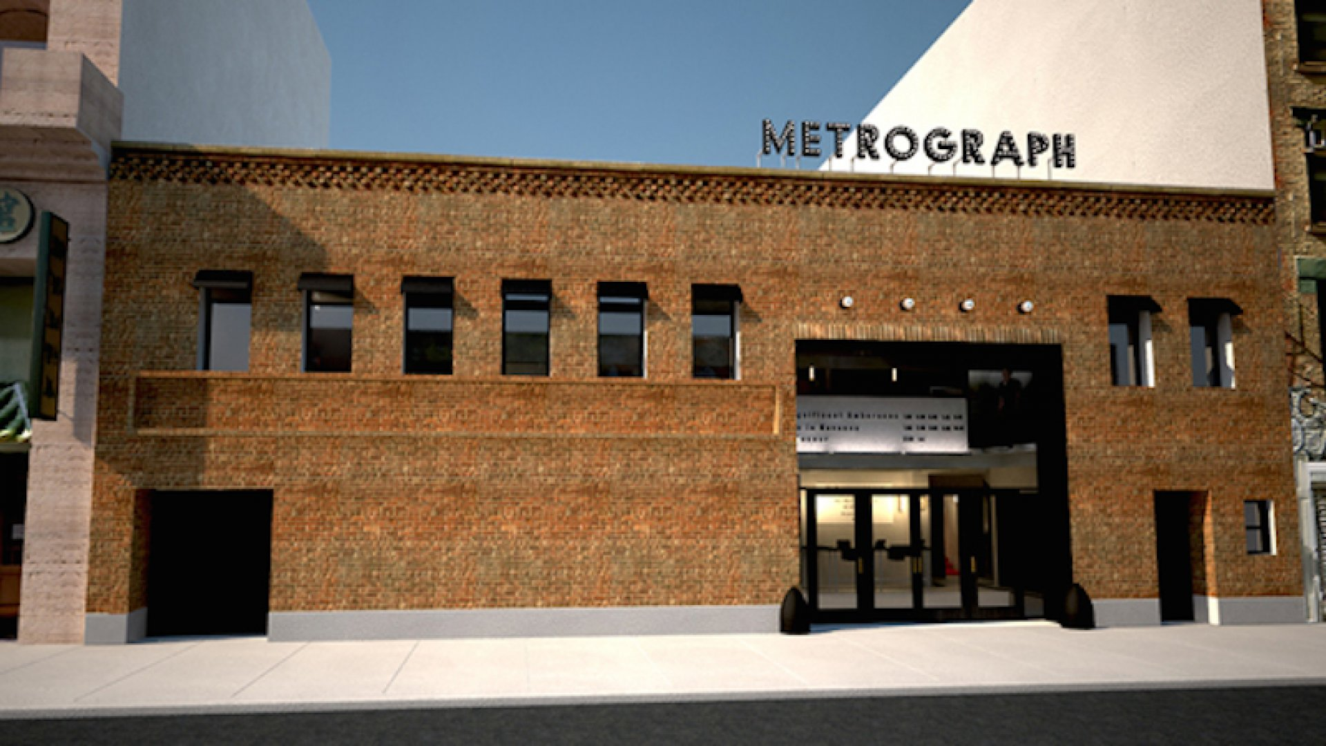 A rendering of the Metrograph theater on Manhattan's Lower East Side.