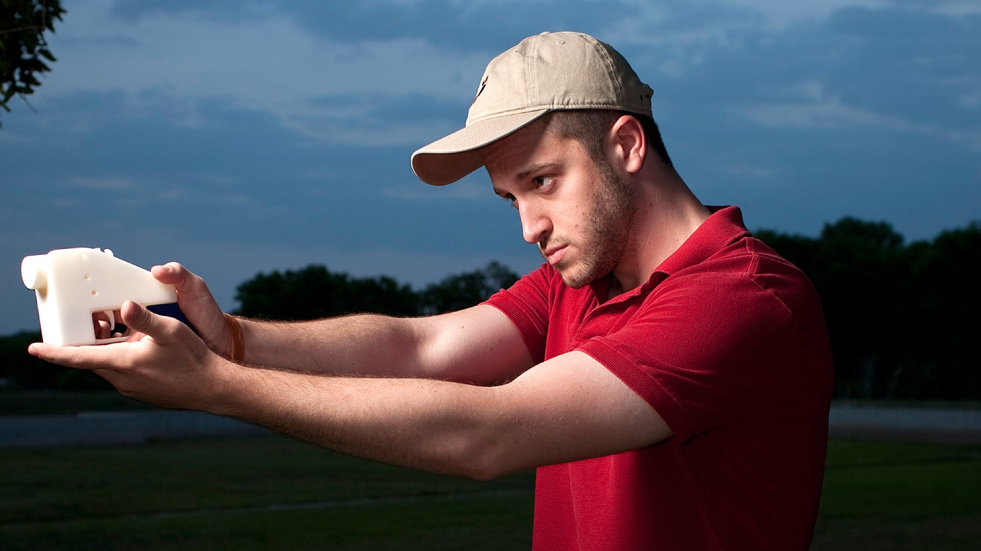 "The 3D-printed gun that Cody Wilson calls the ""Liberator."""
