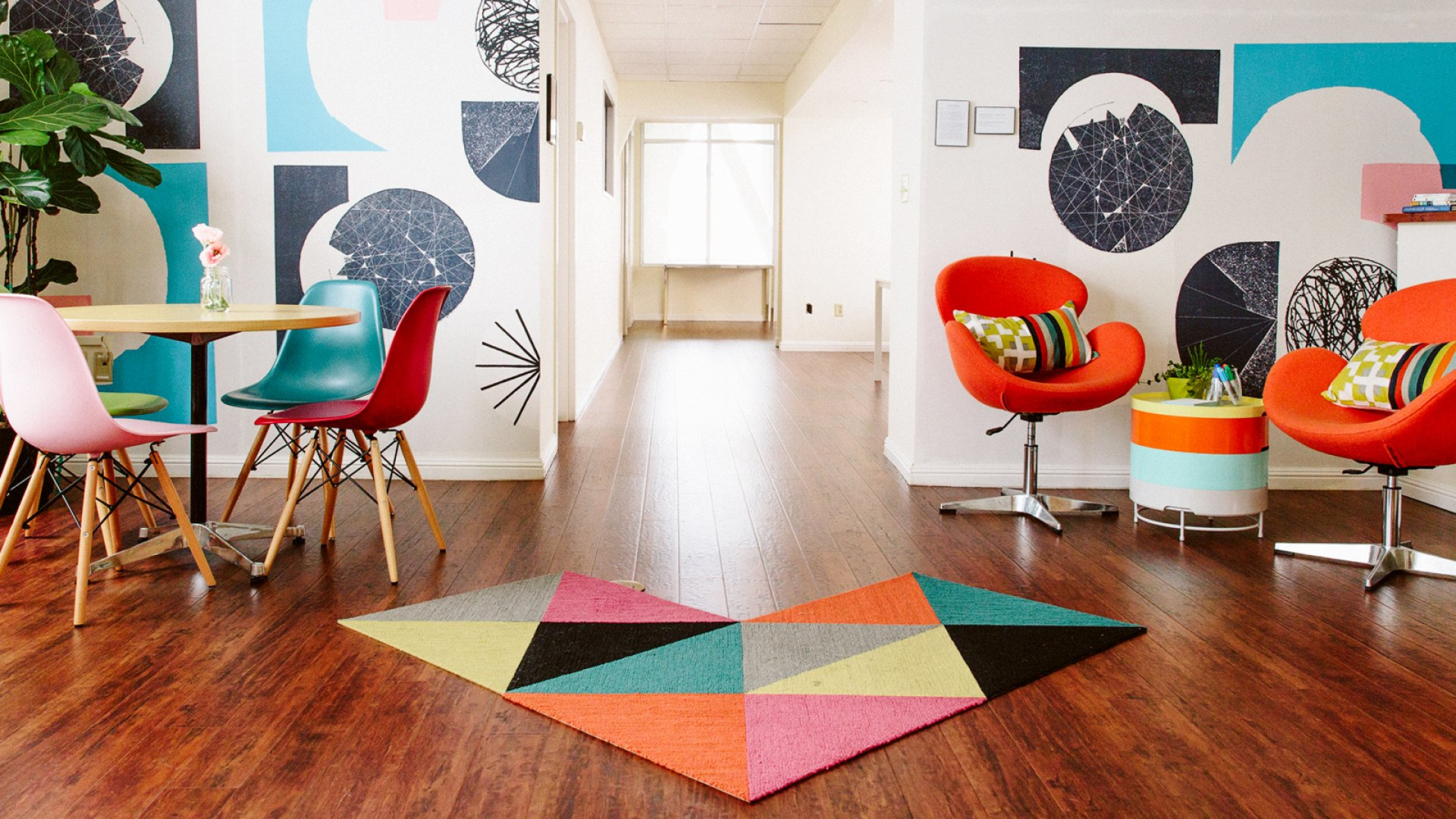 How One Stylish and Scrappy Startup Designed Its Office in a Single Weekend for $5,000