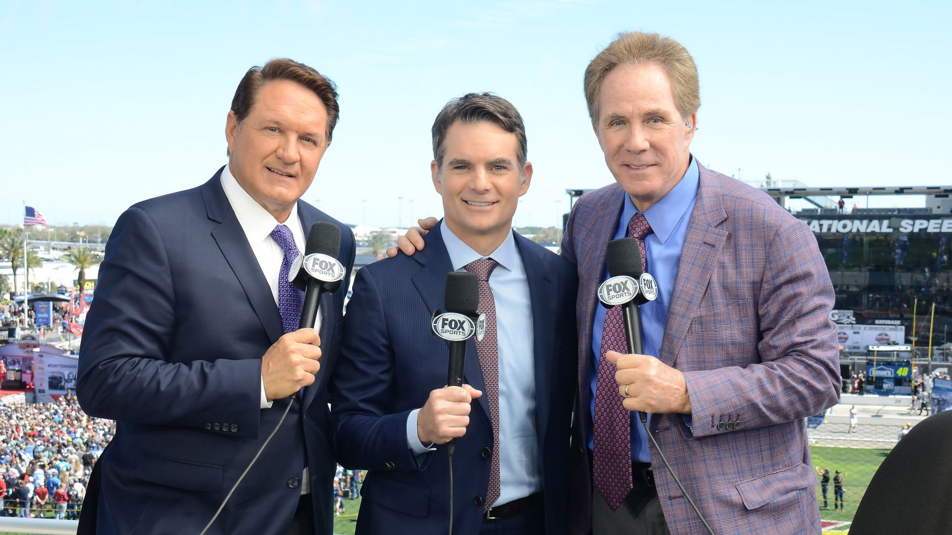Left to right: Chris Meyers, Jeff Gordon, Darrell Waltrip.