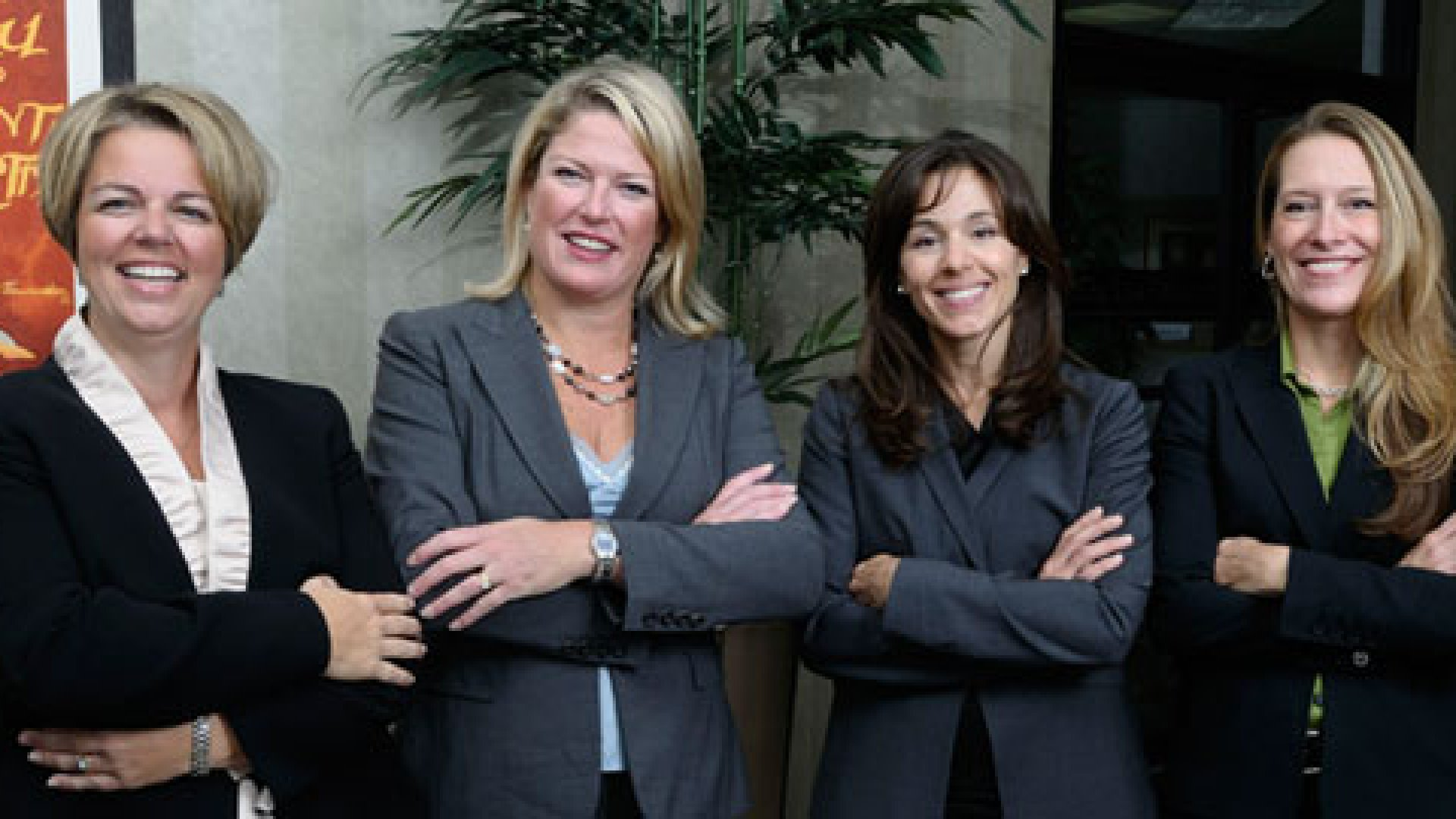 From left to right, Kerrie Heslin, Katherin Nukk-Freeman, Suzanne Cerra, and Robin Rome, four partners at Nukk-Freeman & Cerra P.C. as of October 2010.
