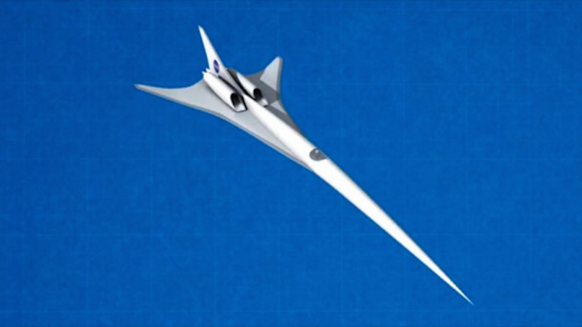A rendering of NASA's proposed X-Plane supersonic jet.
