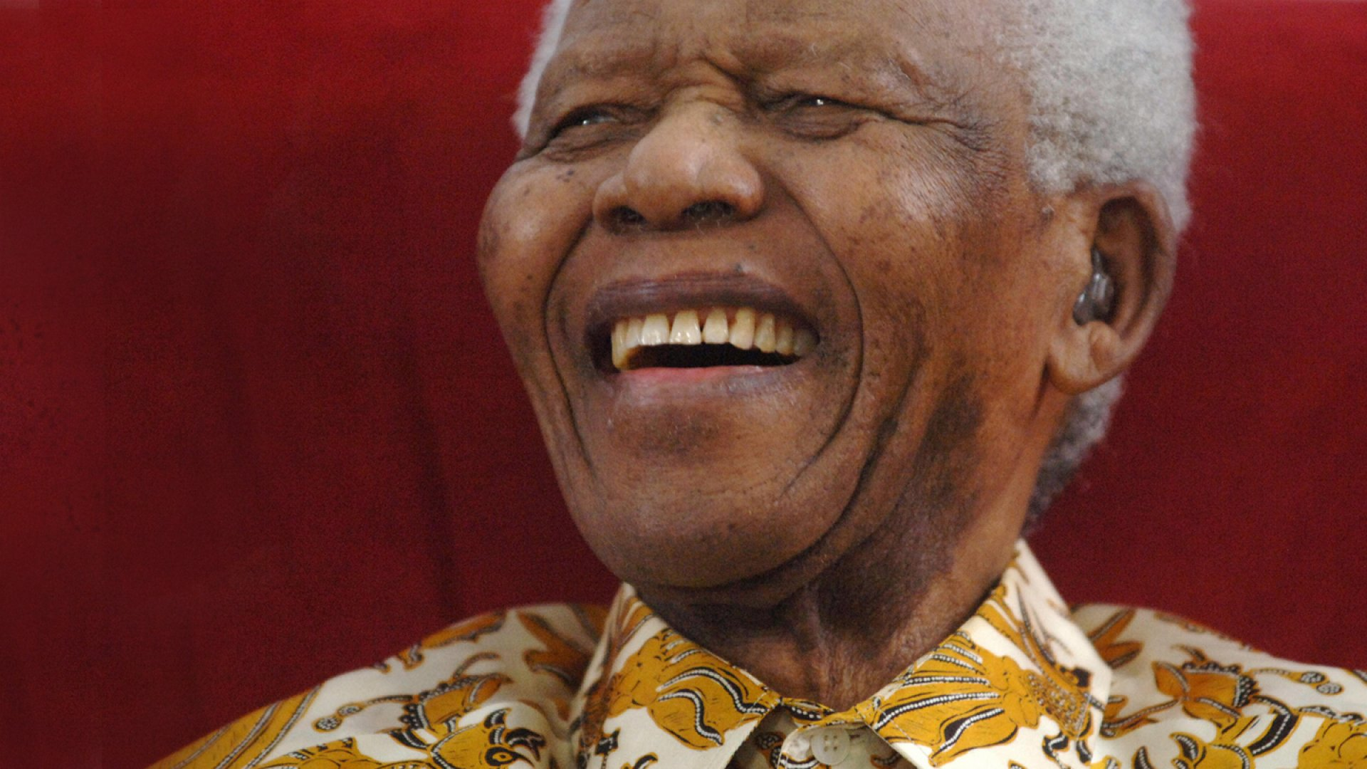 Mandela at a 90th birthday celebration in Johannesburg
