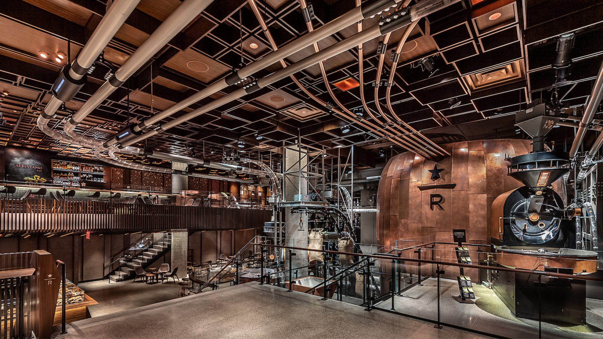 Starbucks opened its new 23,000-square-foot Reserve Roastery in New York City.