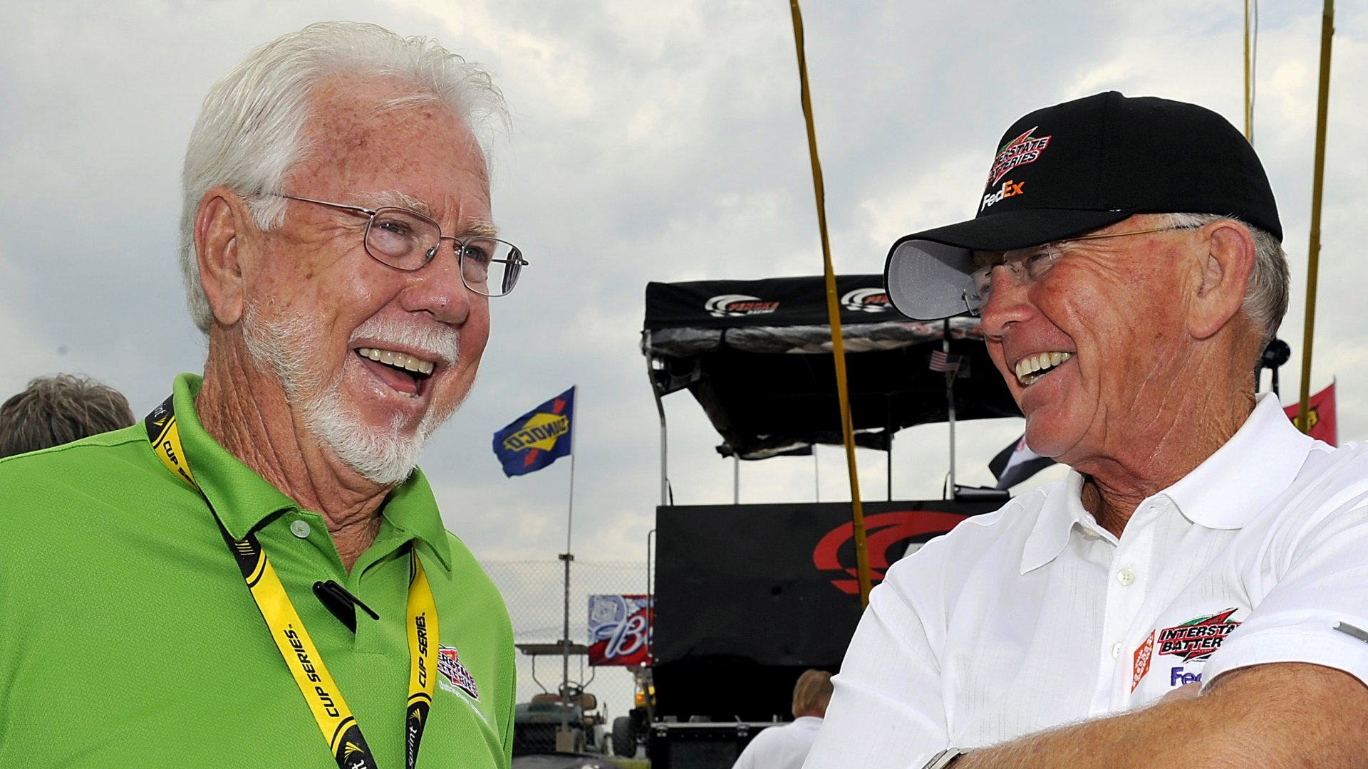 Norm Miller (left) and Joe Gibbs.