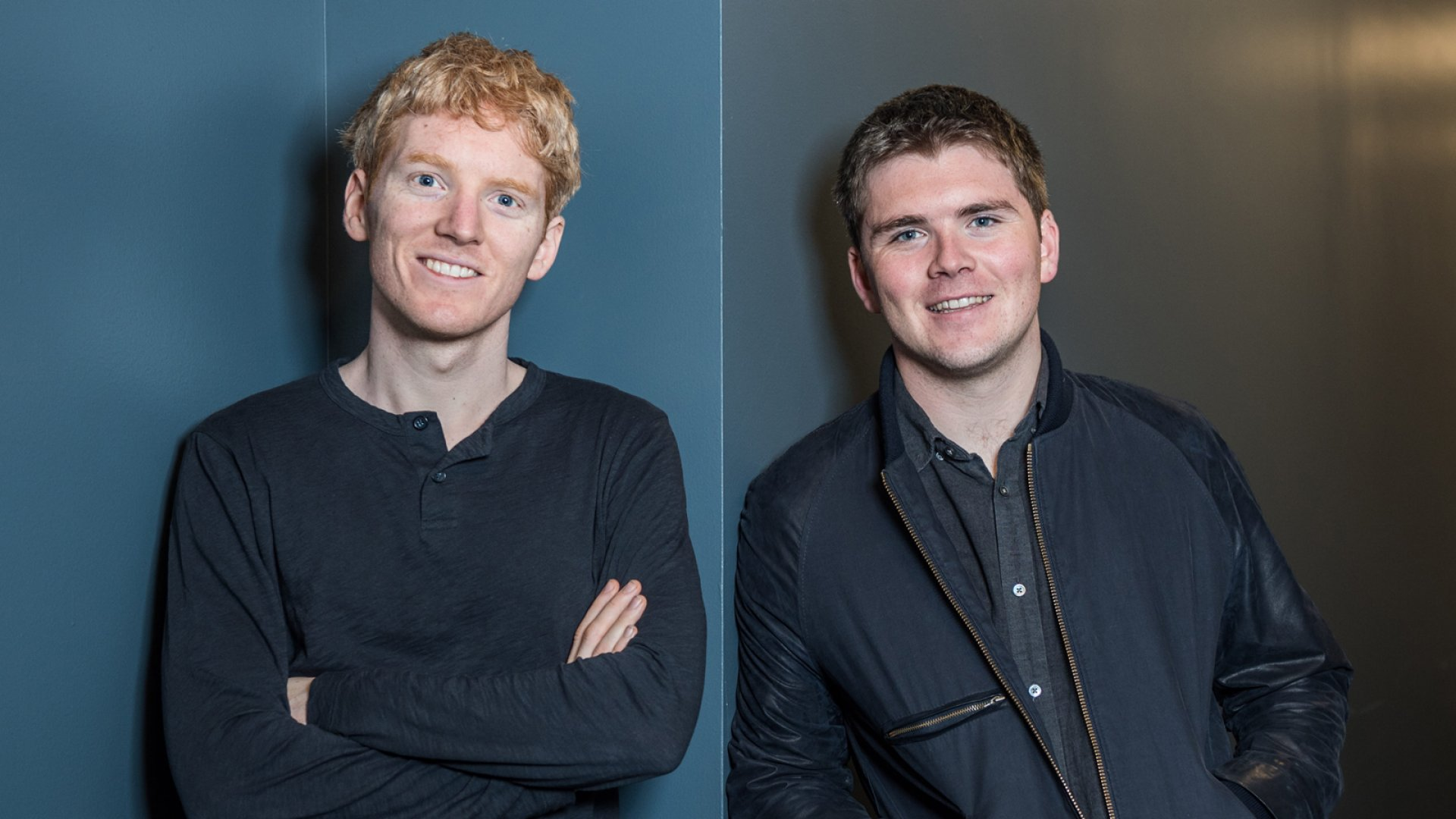 Stripe co-founders Patrick (left) and John Collison.