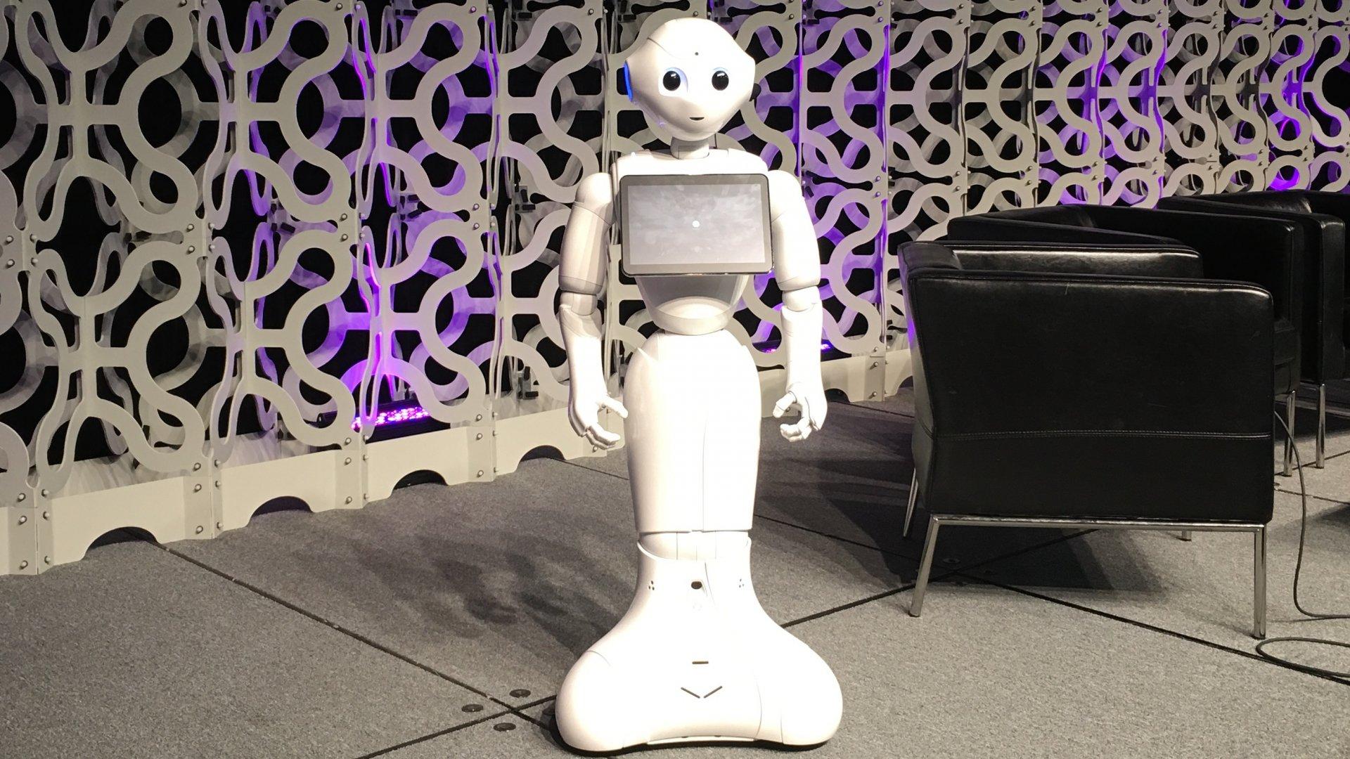 Aldebaran's 'Pepper' robot onstage at SXSW.