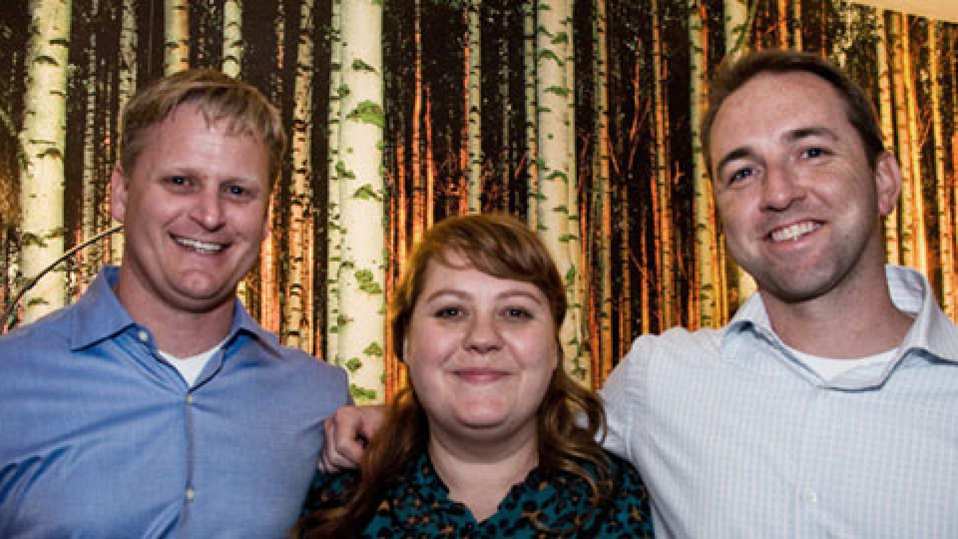 The founding partners of Projectline Services, from left to right: Mike Kichline, Anika Lehde, and David Jones.