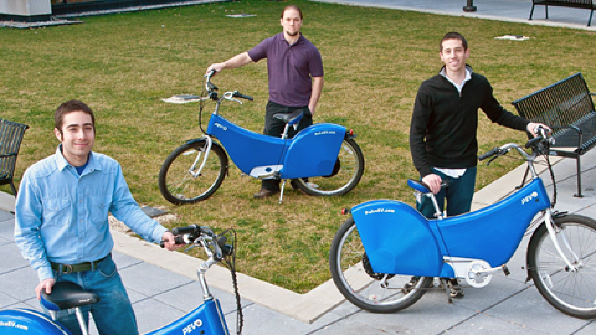 """""""We think we're right at the beginning of when the electrical vehicle market is really going to open up,""""say Micah Toll, pictured with his co-founders Thorin Tobiassen (center) and Max Pless (left)."""