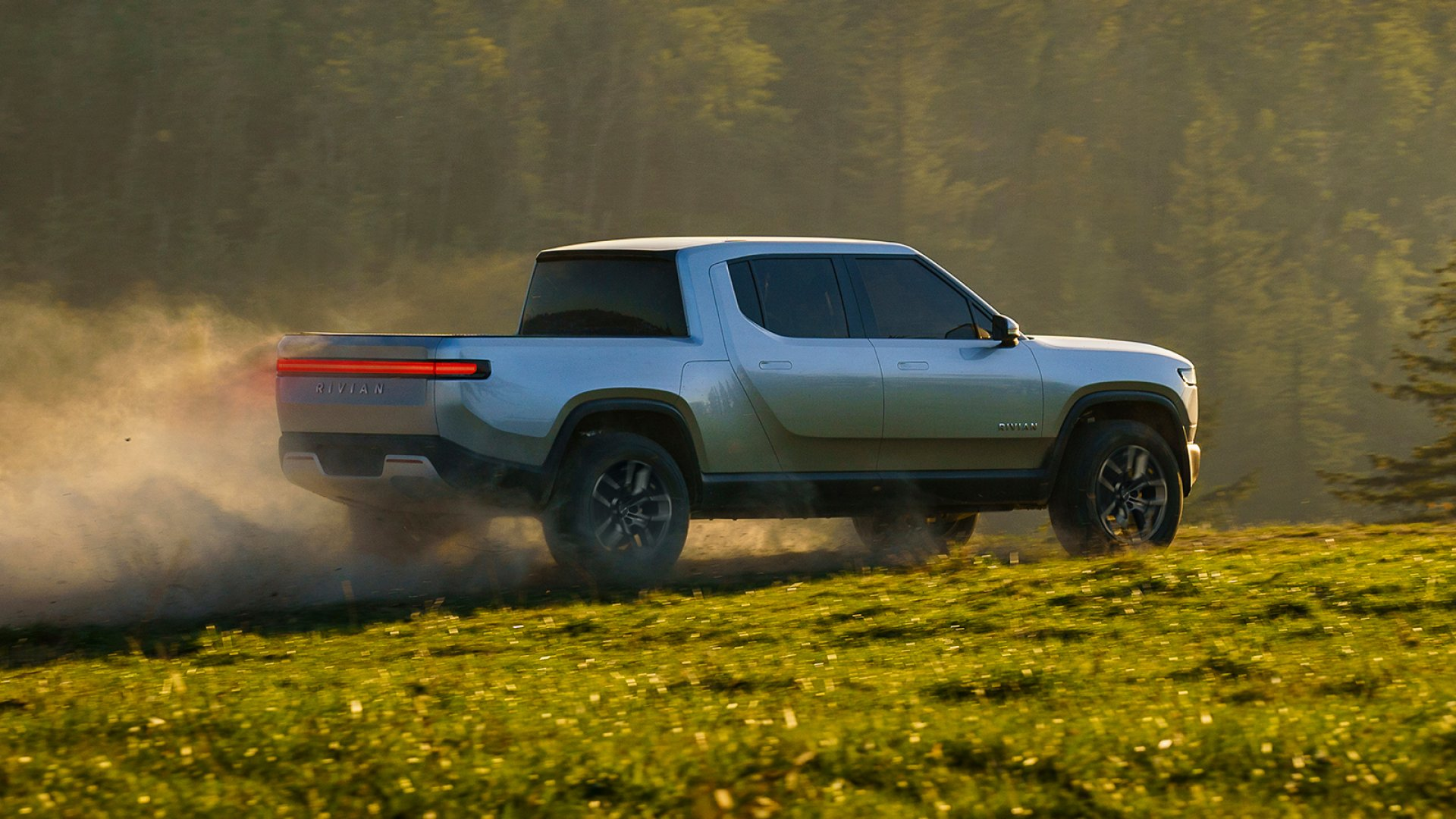 The Rivian R1T, an electric pickup truck revealed on Monday.