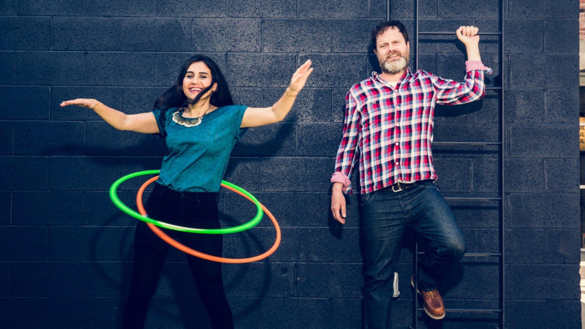SoulPancake CEO Shabnam Mogharabi (left) and co-founder Rainn Wilson