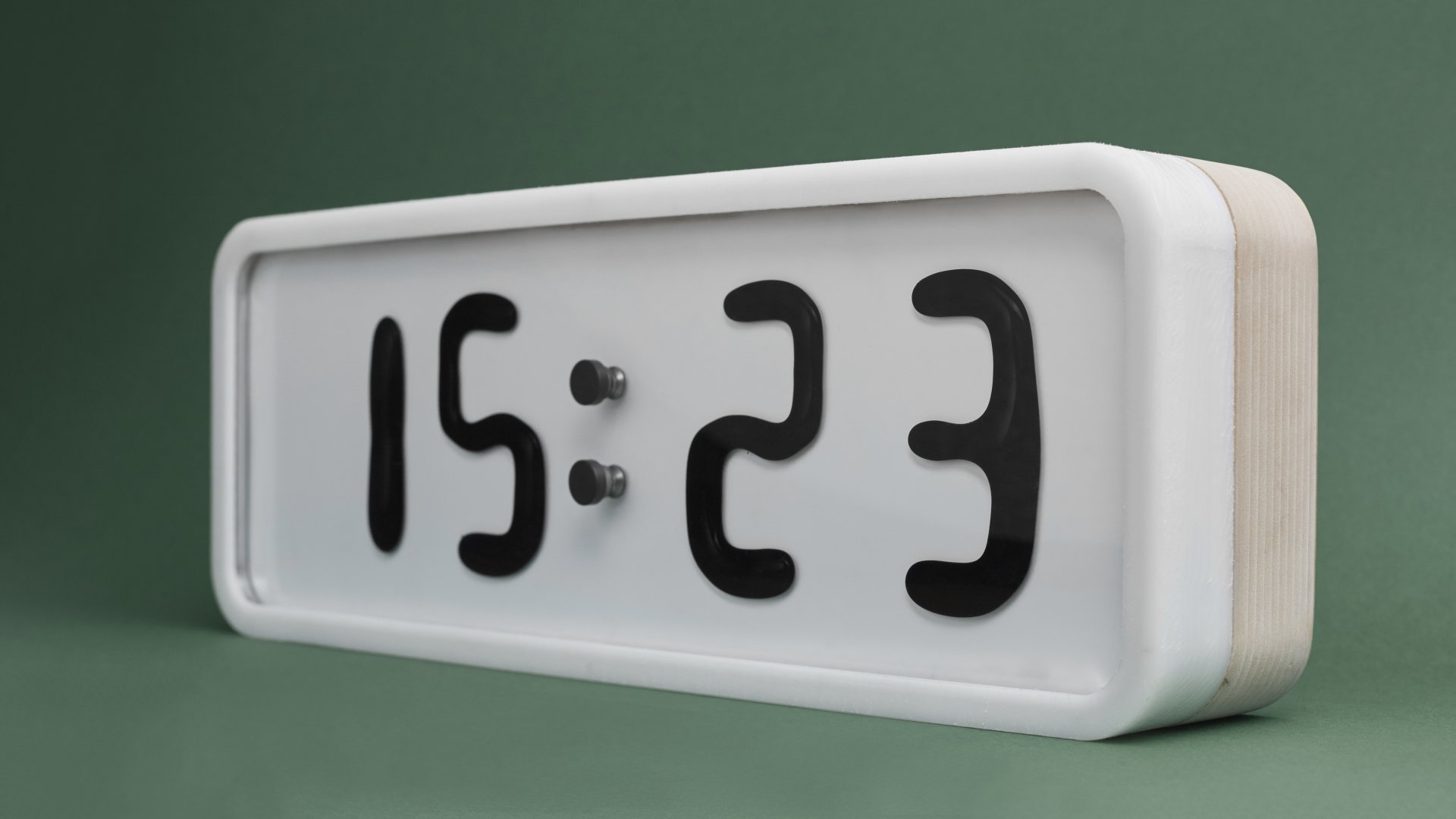 Rhei, an electro-mechanical clock with a liquid display, is currently in the prototype stage.