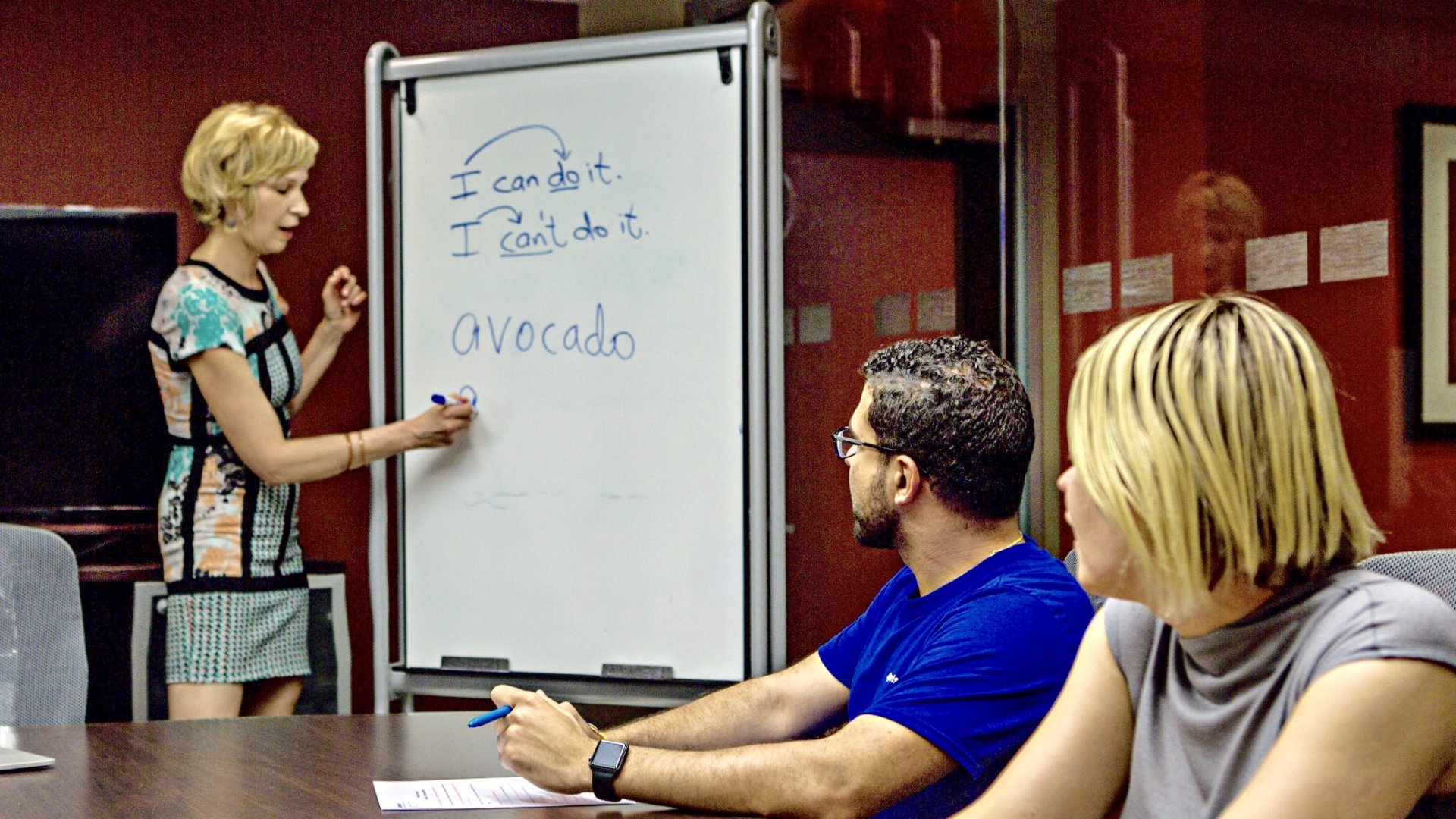 Rochel deOliveira, founder of AccentsOff, teaches accent reduction in New York City.