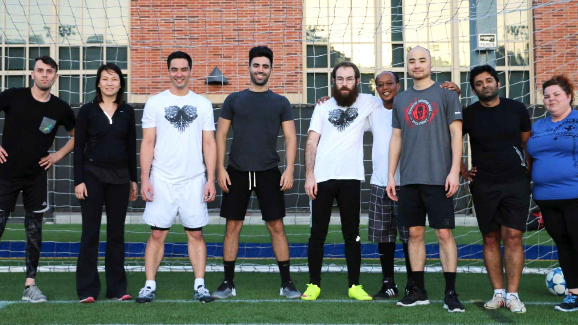 VideoAmp soccer team.