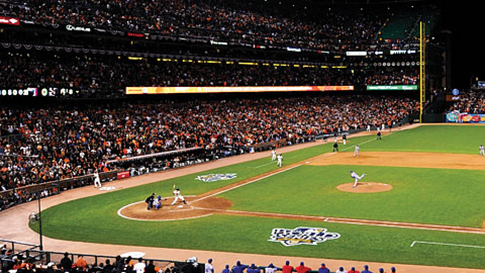 A general view of Game Two of the 2010 World Series between the Texas Rangers and San Francisco Giants at AT&T Park on Thursday, October 28, 2010 in San Francisco, California.