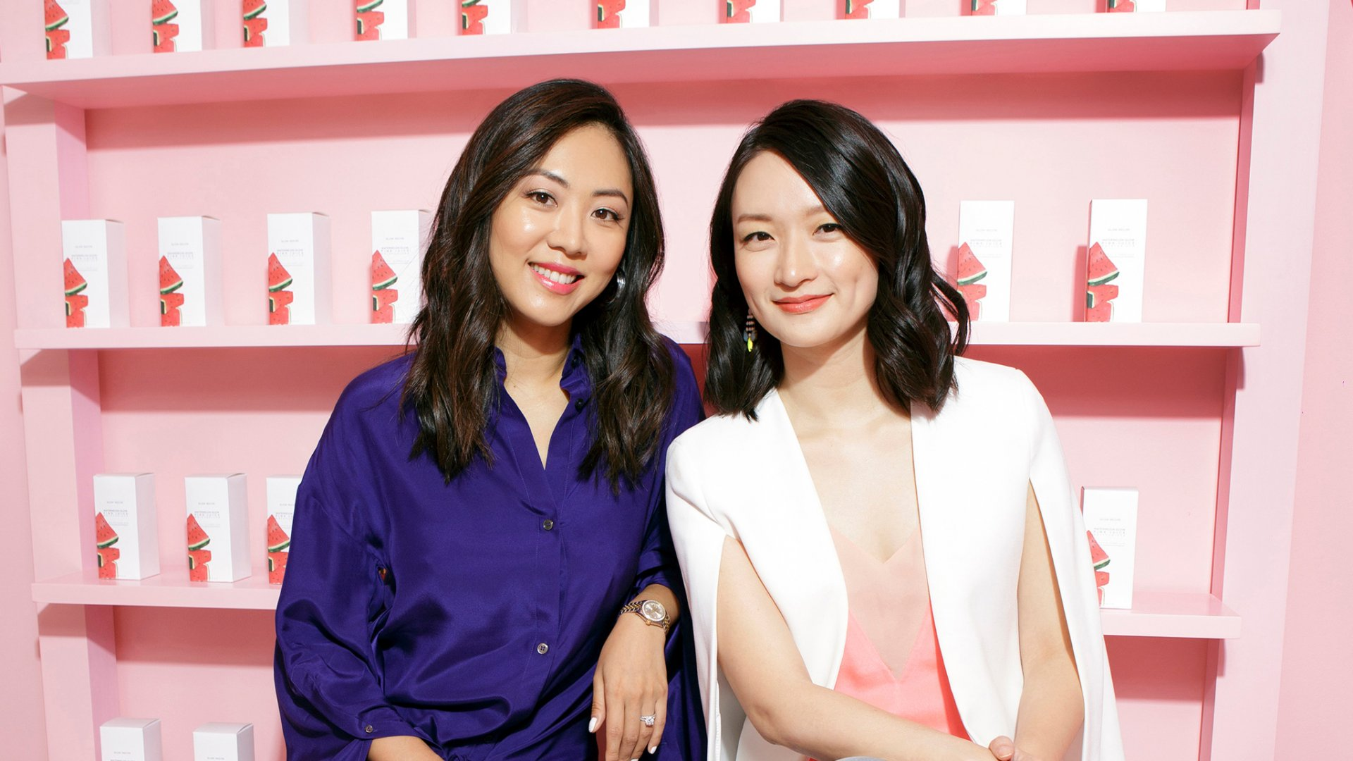 Sarah Lee (left) and Christine Chang, co-founders of Glow Recipe.