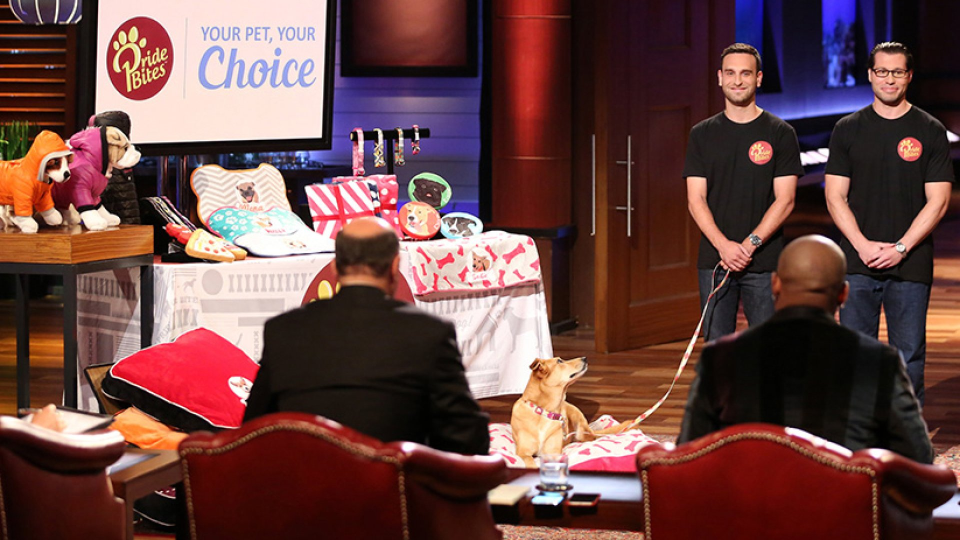 PrideBites co-founders Sean Knecht (left) and Steven Blustein on ABC's Shark Tank.