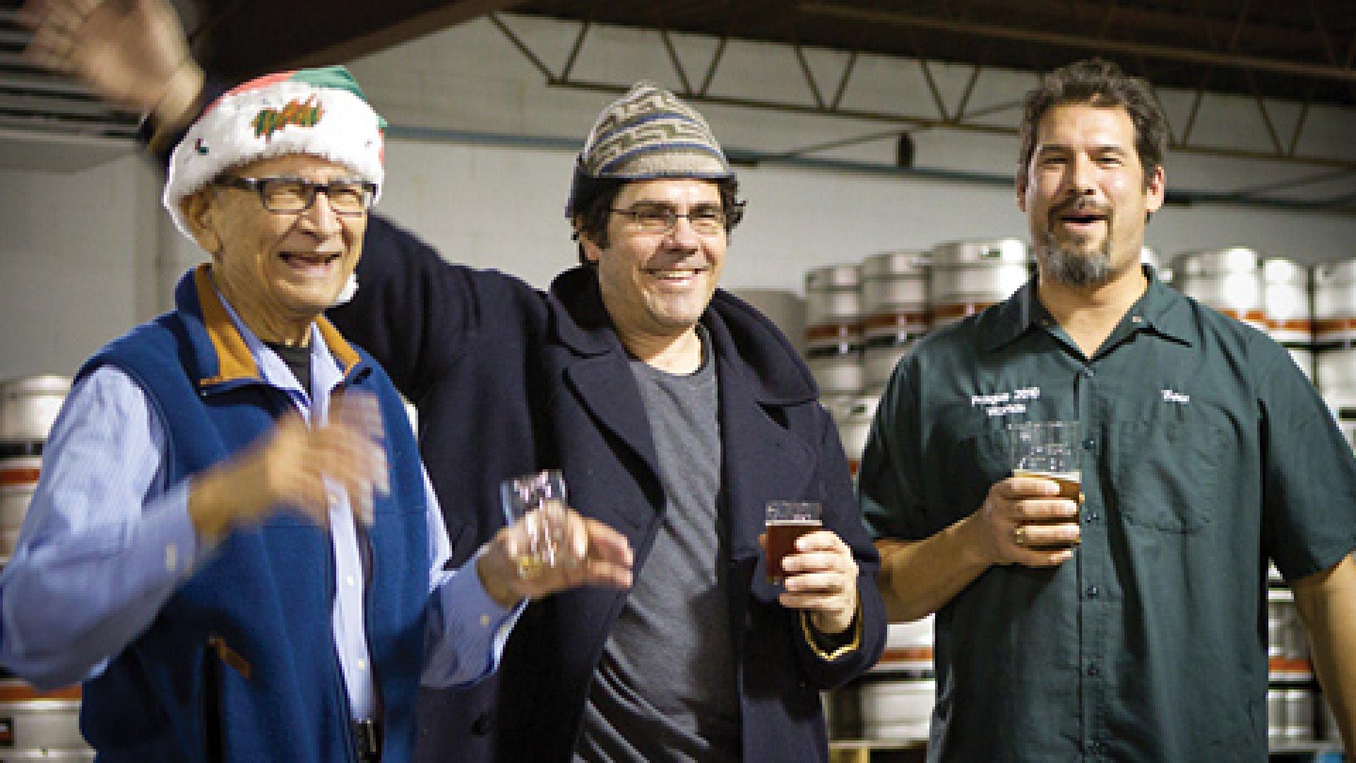 Omar Ansari (right) of Surly Brewing