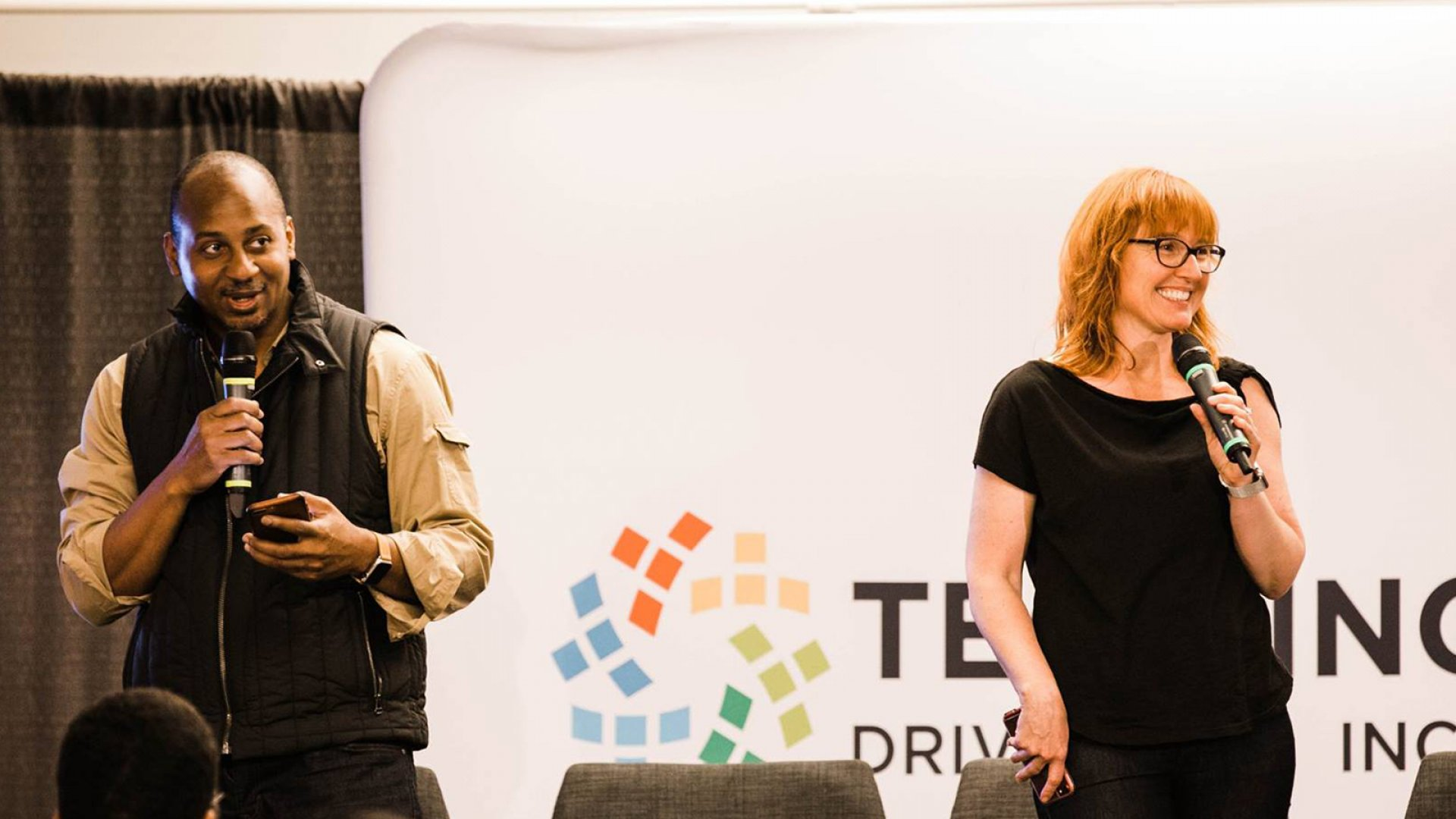 Wayne Sutton and Melinda Briana Epler, Seattle Tech Inclusion Conference.