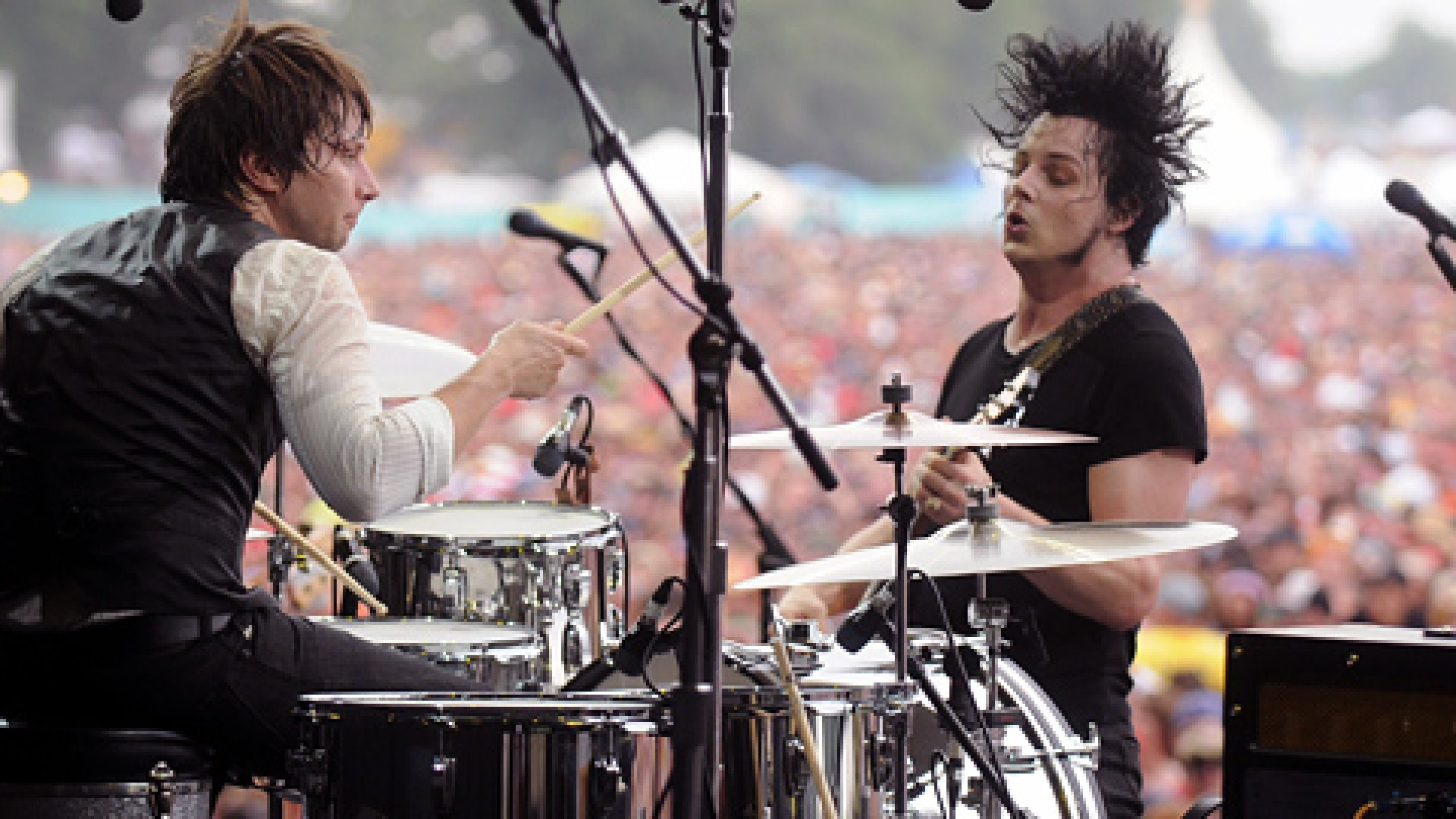 Jack White performs with Patrick Keeler of the Raconteurs during Bonnaroo. White signed on as a headliner for Red Frog Events' new festival.