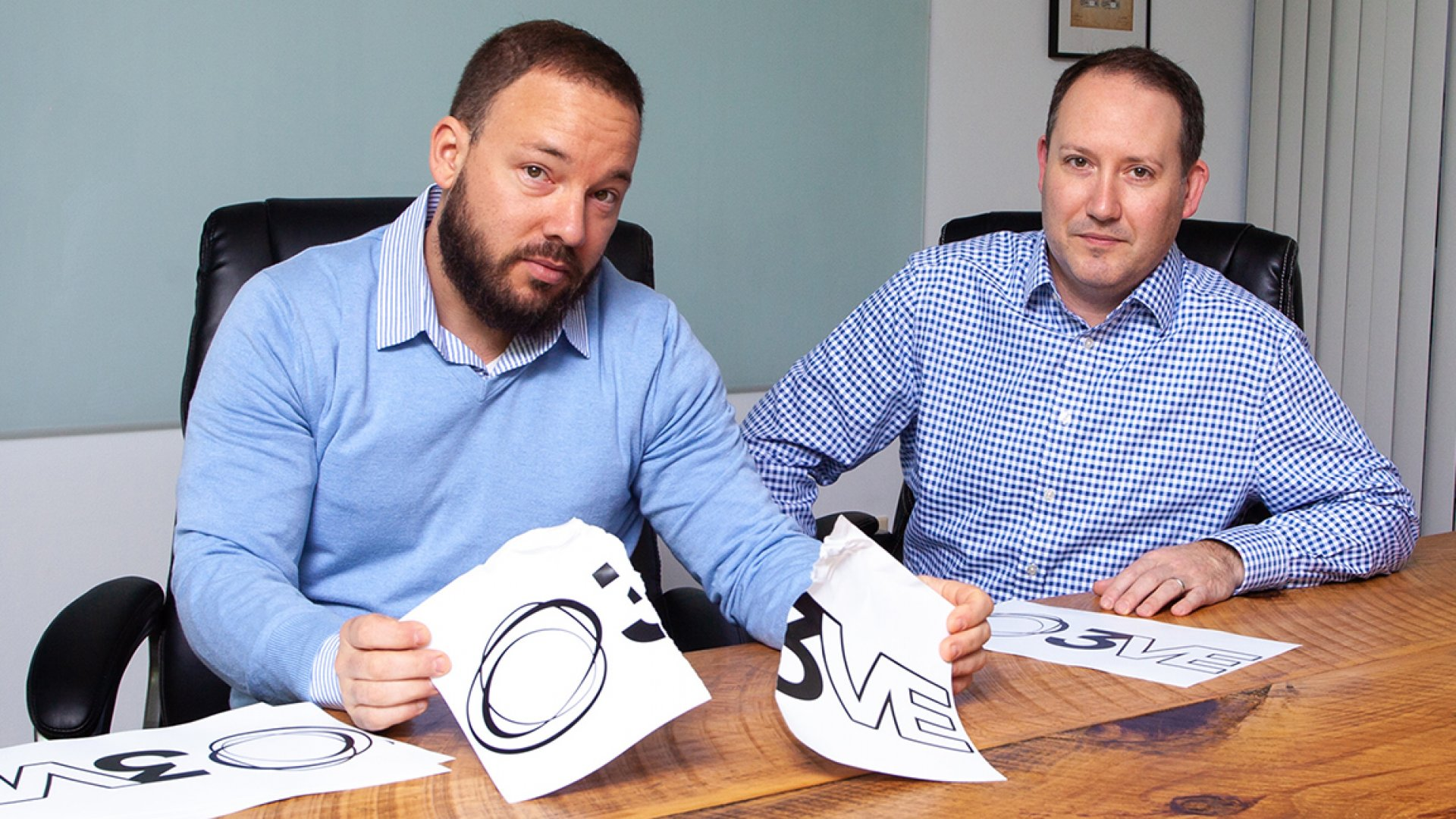 David Christopher, at left, and Neal Maier got an email from Google that shattered $150,000 worth of branding work their creative agency had done.