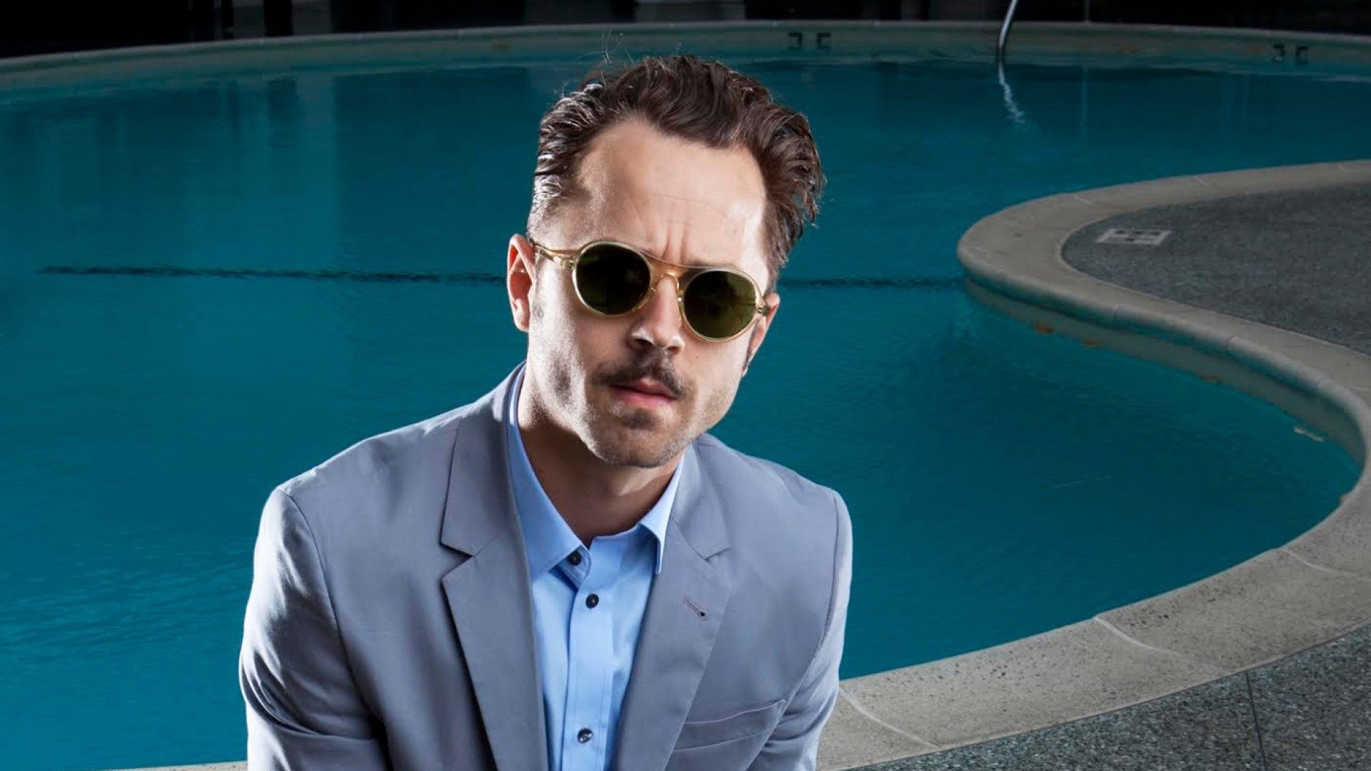 Actor Giovanni Ribisi photographed by Tim Cadiente for his own Barton Perreira sunglasses collection.