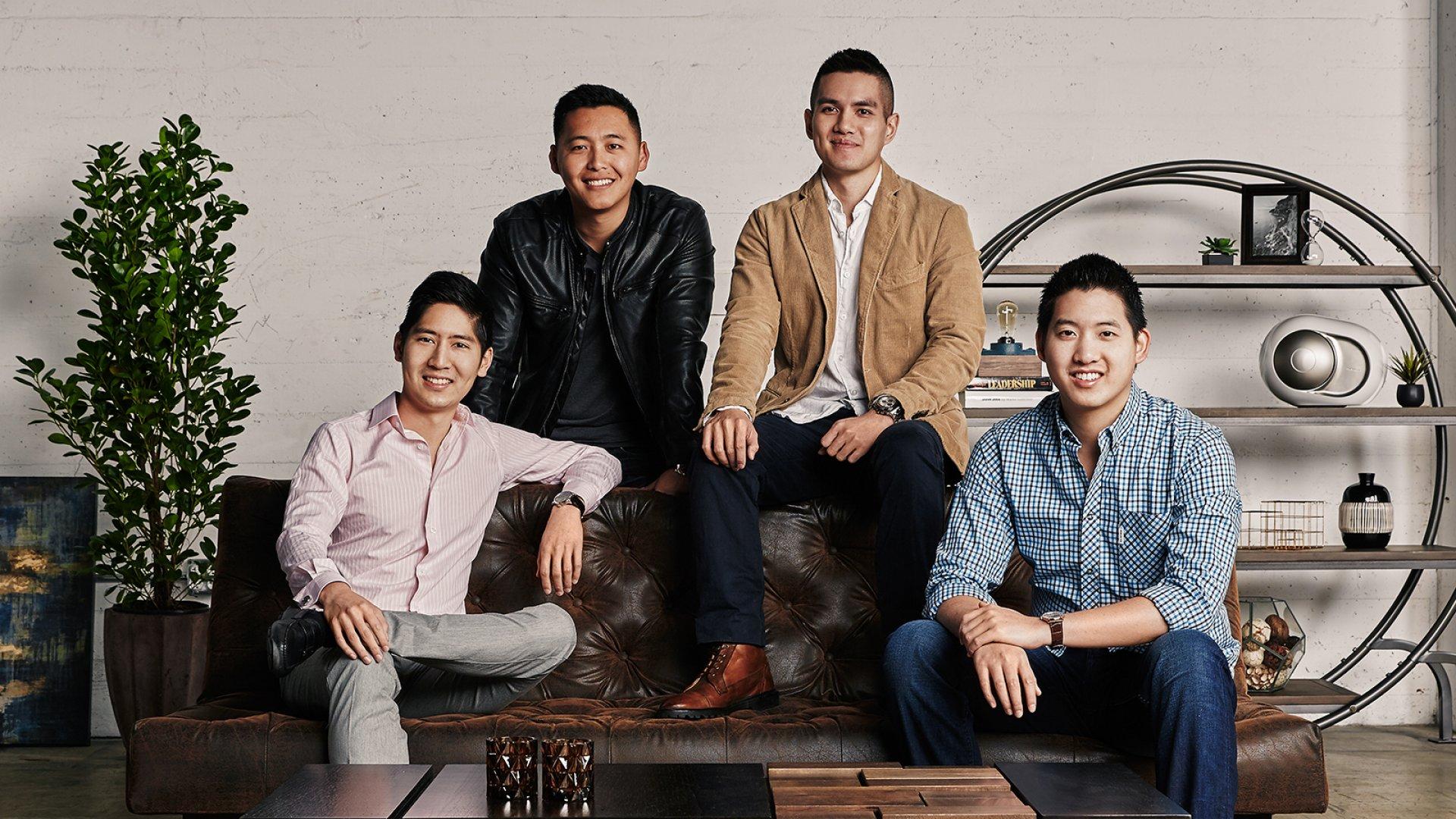 Co-founders Jonathan Wu, Dennis Liu, Jerry Hum, and Steven Ou.