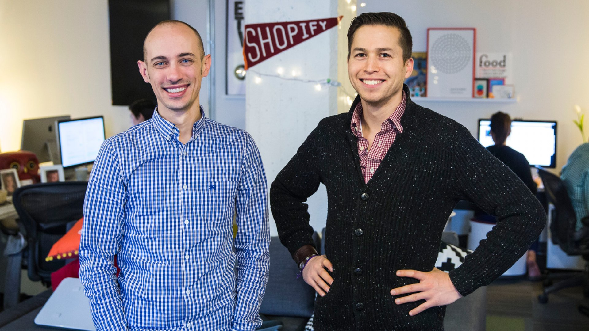 Tobias Lutke (left) and Daniel Weinand (right) are co-founders of Shopify, which went public on Thursday.