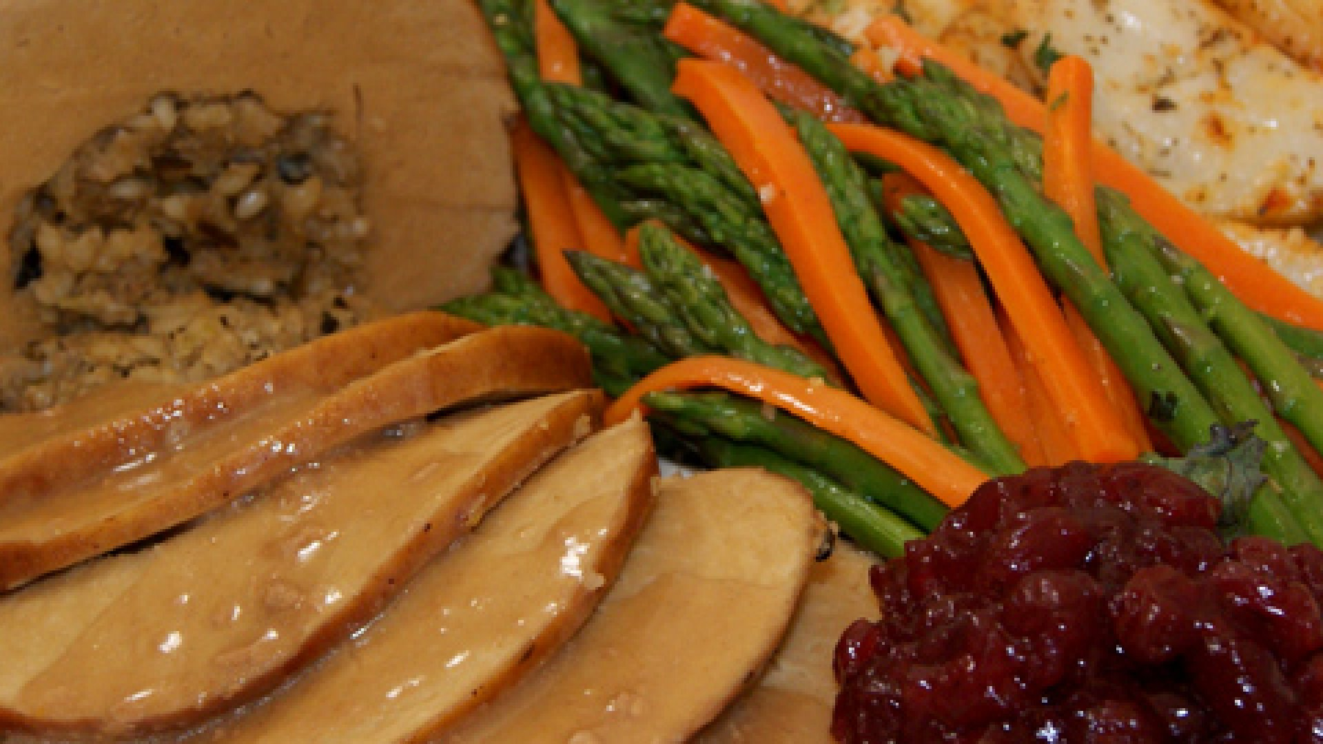 <strong>GOBBLE, GOBBLE</strong>: Serving up a crockpot Tofurky with a holiday feast.