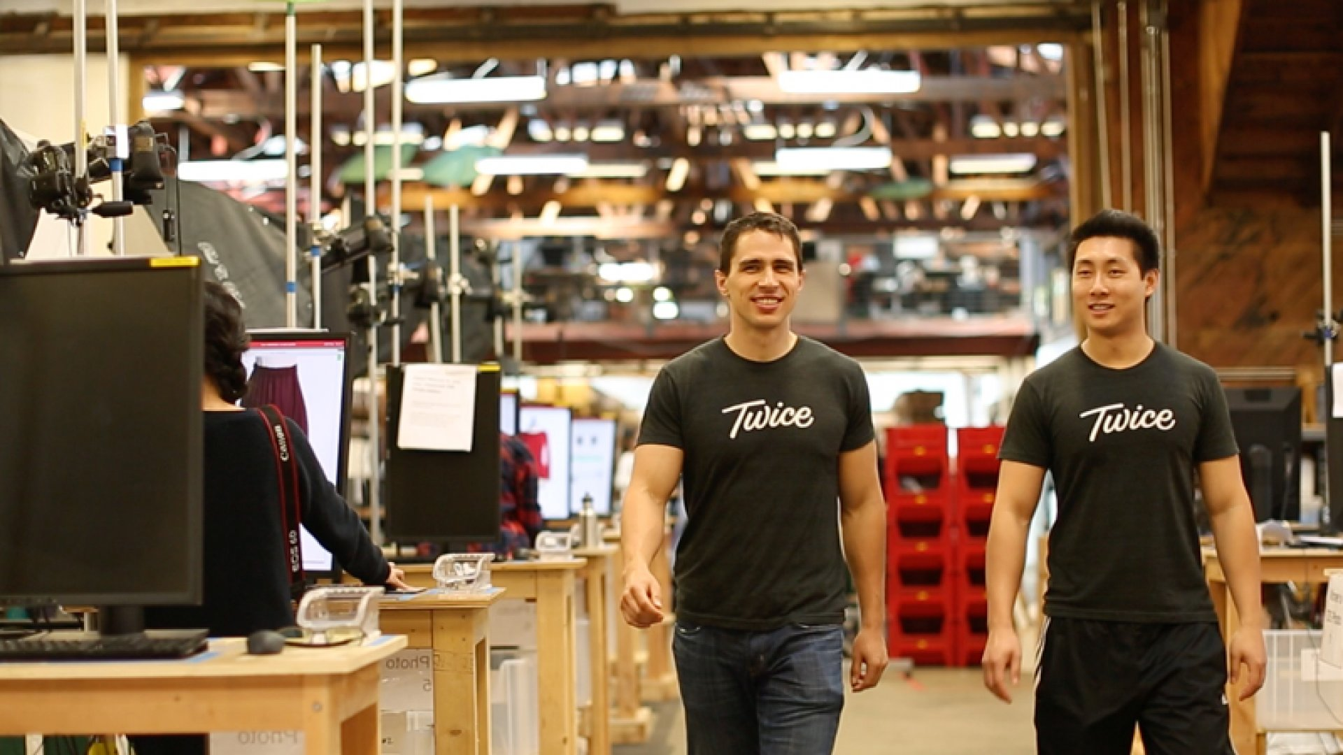 Twice co-founders Noah Ready-Campbell and Calvin Young grew up buying and selling secondhand stuff.