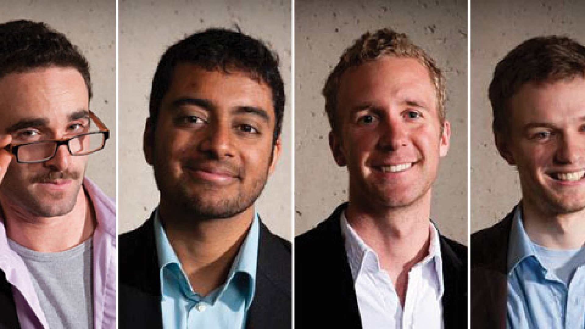 Daniel Epstein, Teju Ravilochan, Tyler Hartung, and Vladimir Dubovsky, founders of the Unreasonable Institute.