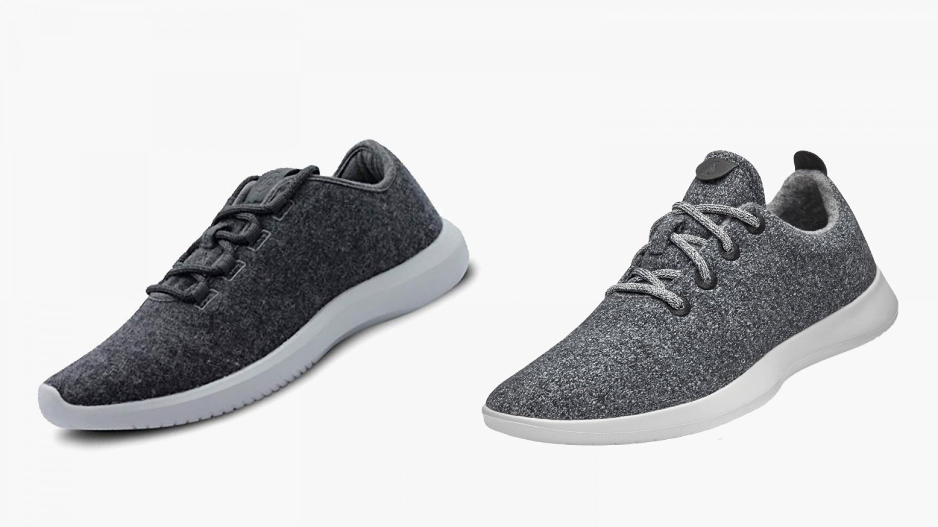 The Amazon-branded sneakers (left) bear a striking resemblance to Allbirds's most well-known product, the Wool Runners (right).