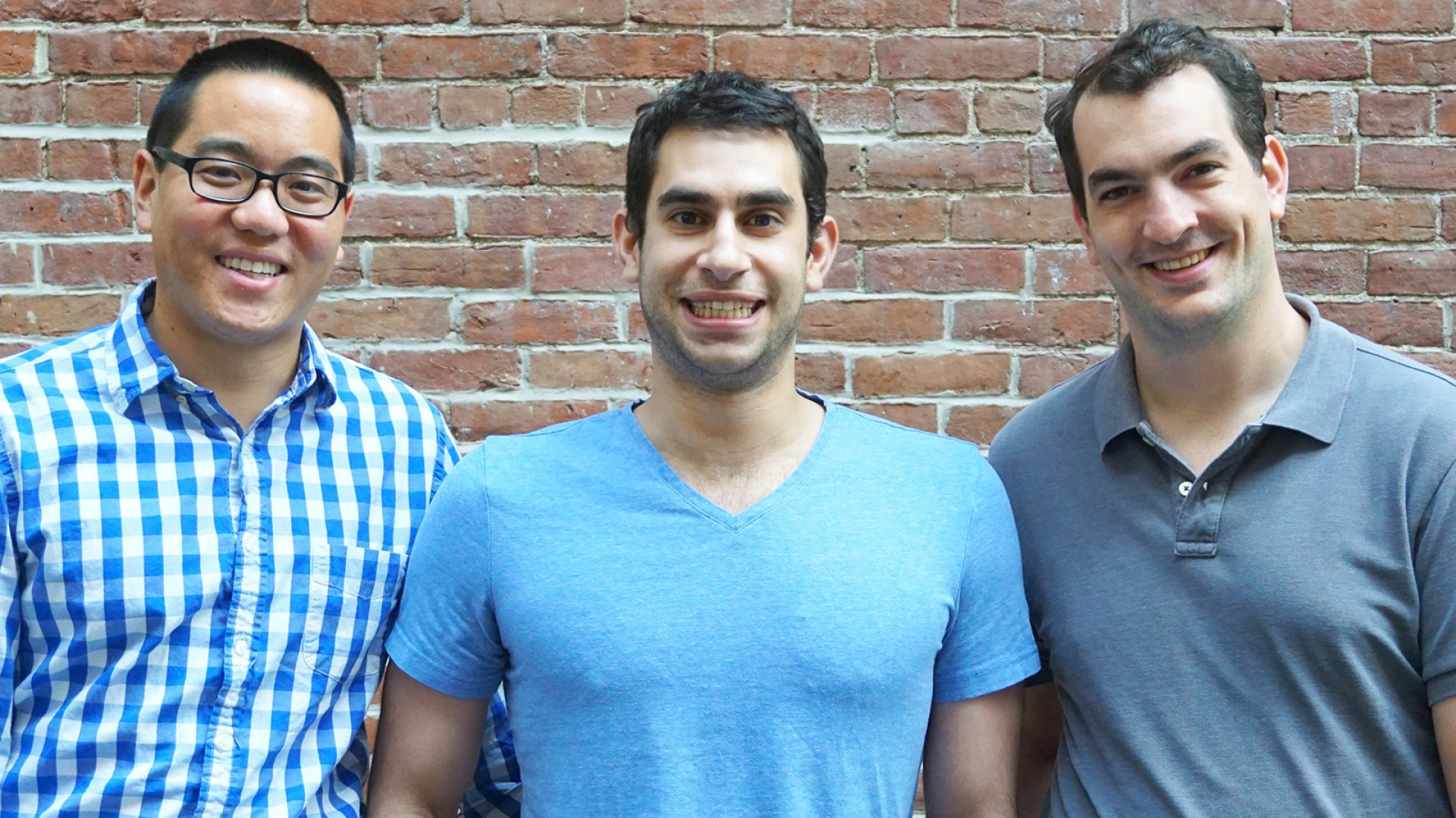 Founders of User Interviews Dennis Meng (left), Basel Fakhoury and Bob Saris.