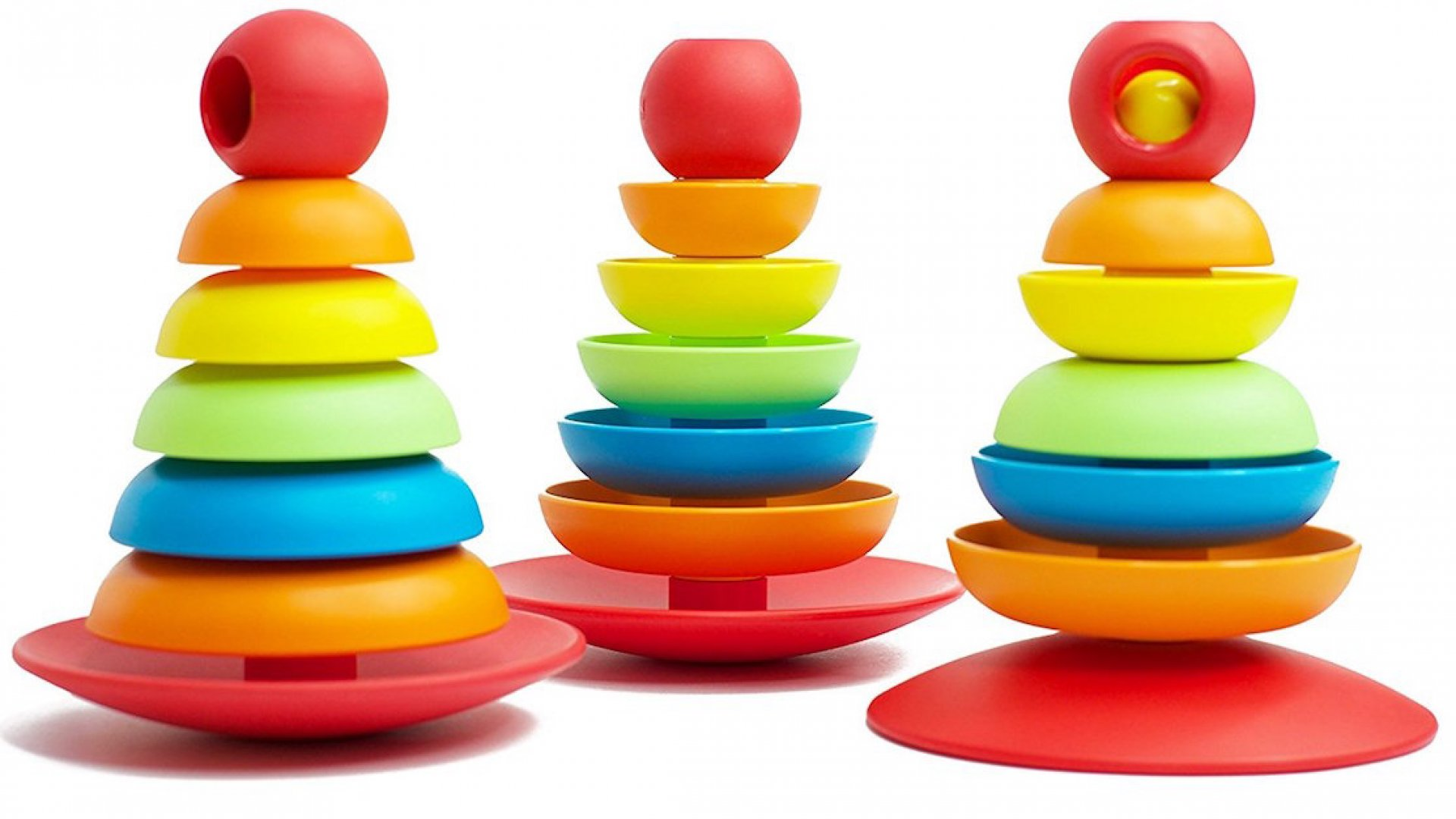 The Bioserie Toys 2 in 1 Stacker, made from bioplastic