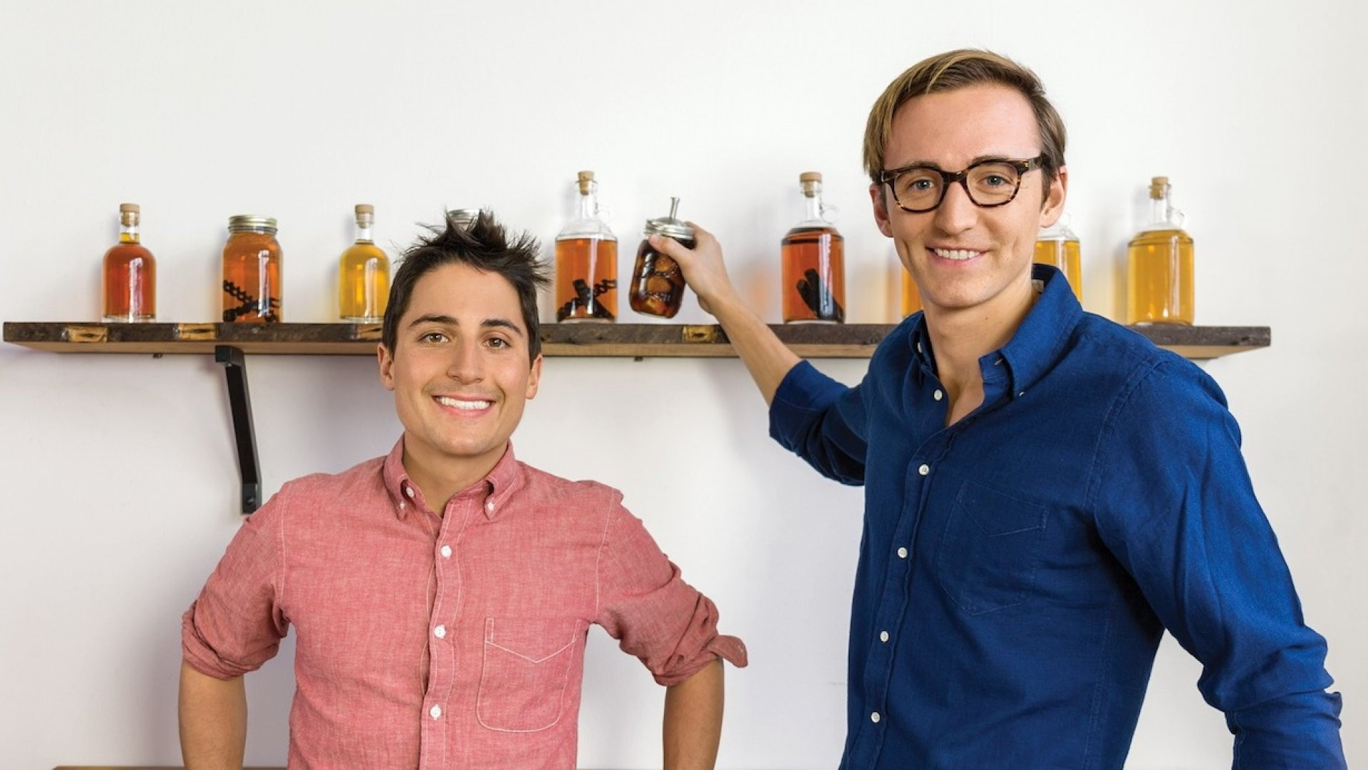 Co-founders of W&P Design Eric Prum and Josh Williams, who helped launch the Homemade Gin Kit.