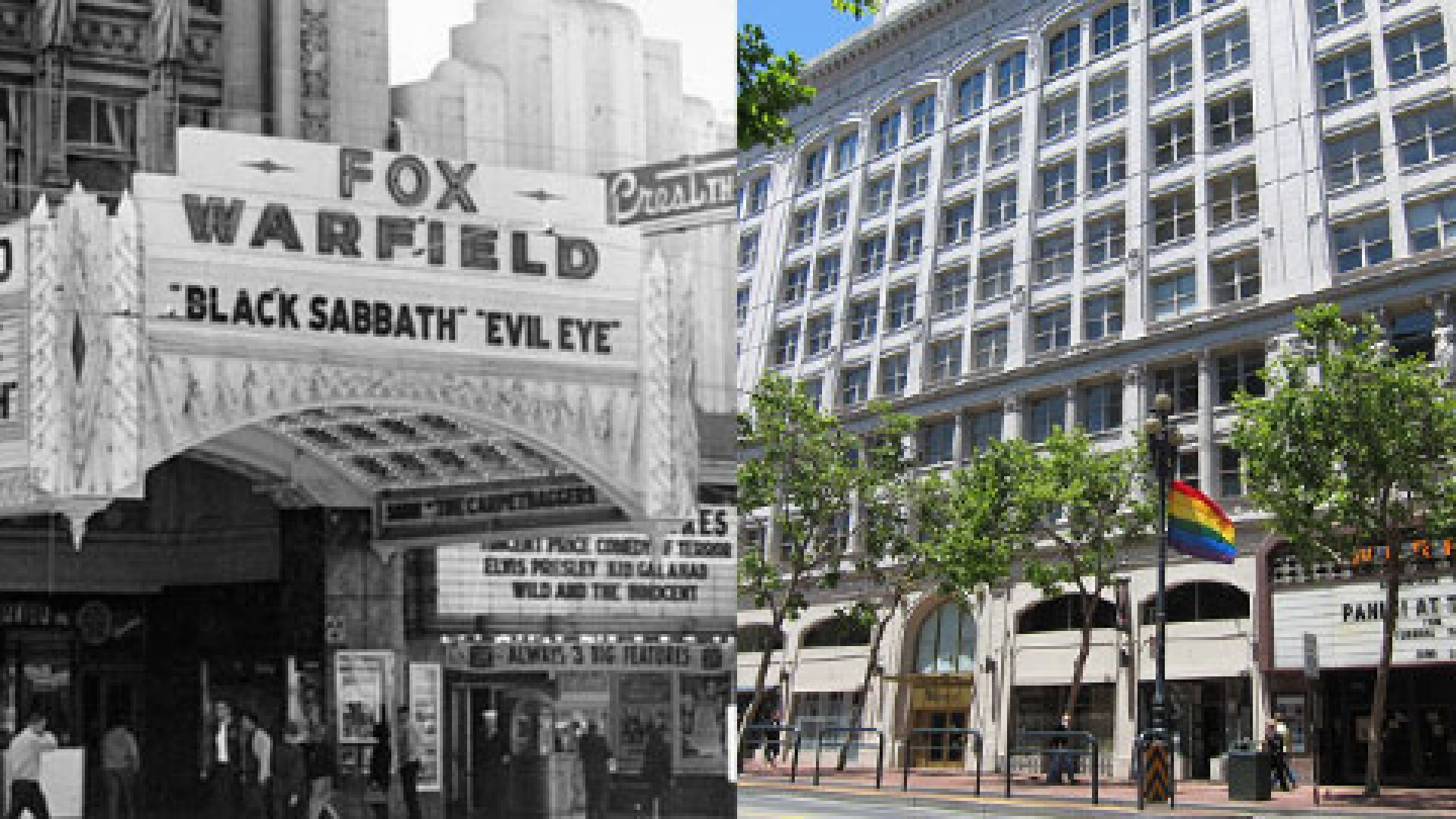 <strong>THEN AND NOW:</STRONG> The Warfield Theater brought vibrancy to Market Street in the 1920s, then witnessed the neighborhood's decay before a recent resurgence, no small thanks to the start-up boom.