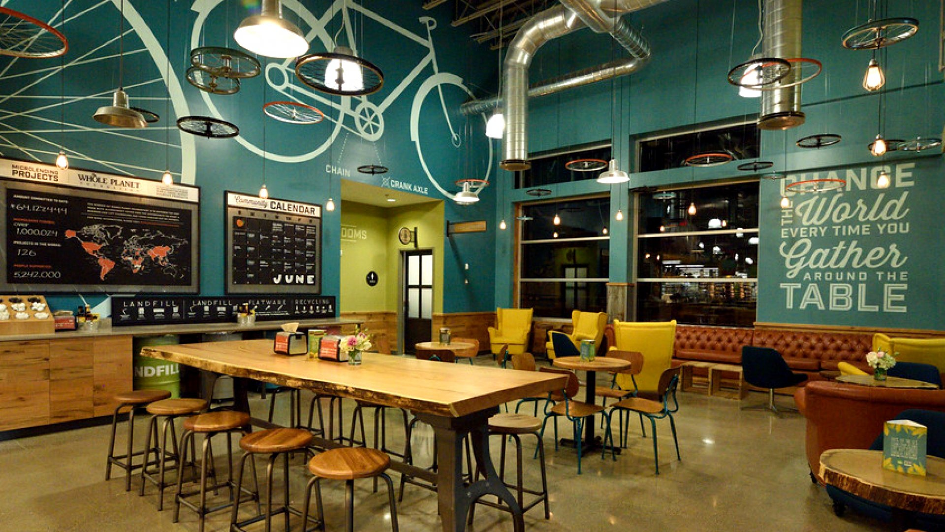 A Whole Foods store in Dayton, Ohio is designed to evoke the Wright Brothers, who invented the airplane.