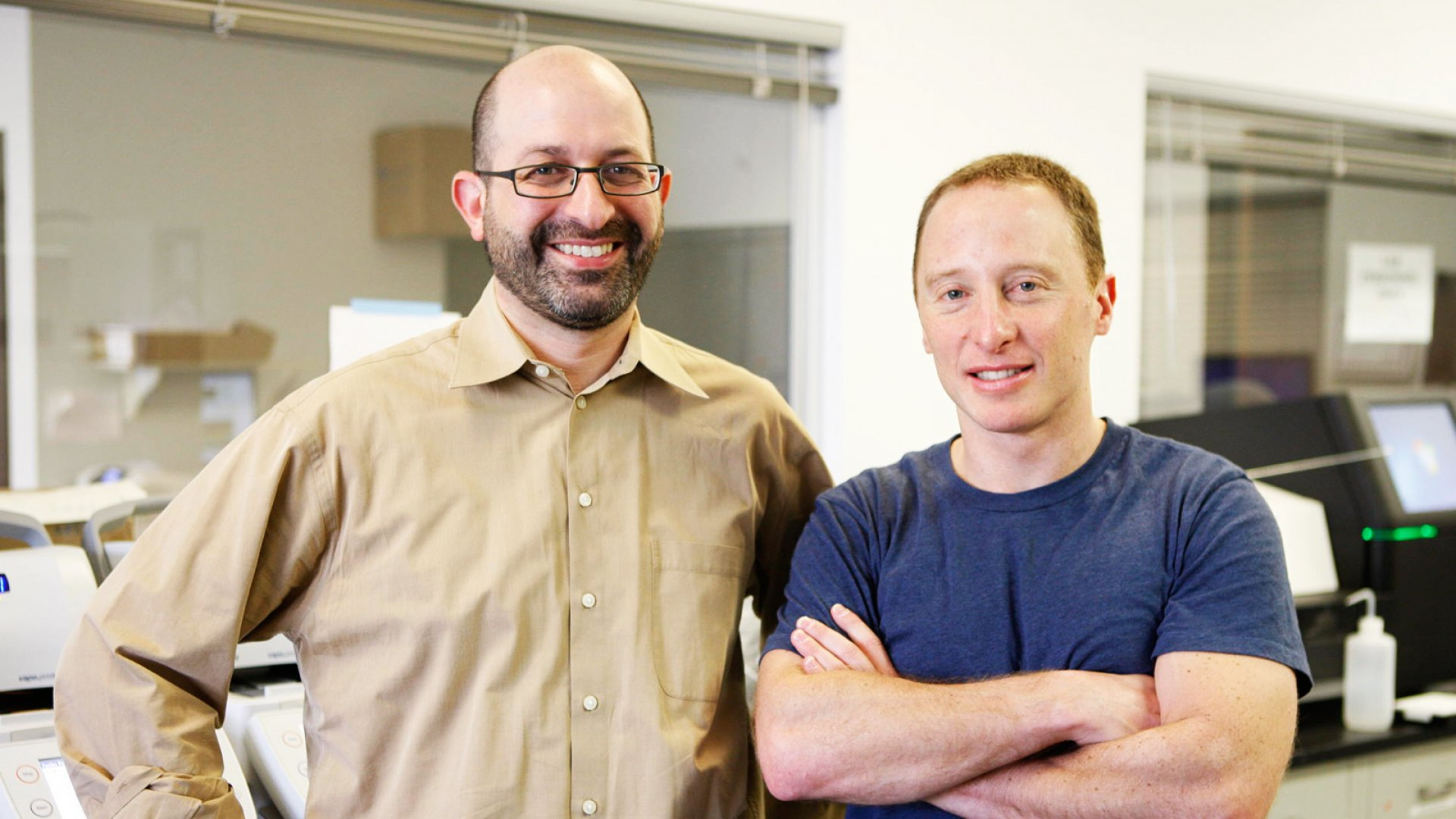 Natera co-founders CTO Johnathan Sheena, left, and CEO Matthew Rabinowitz.