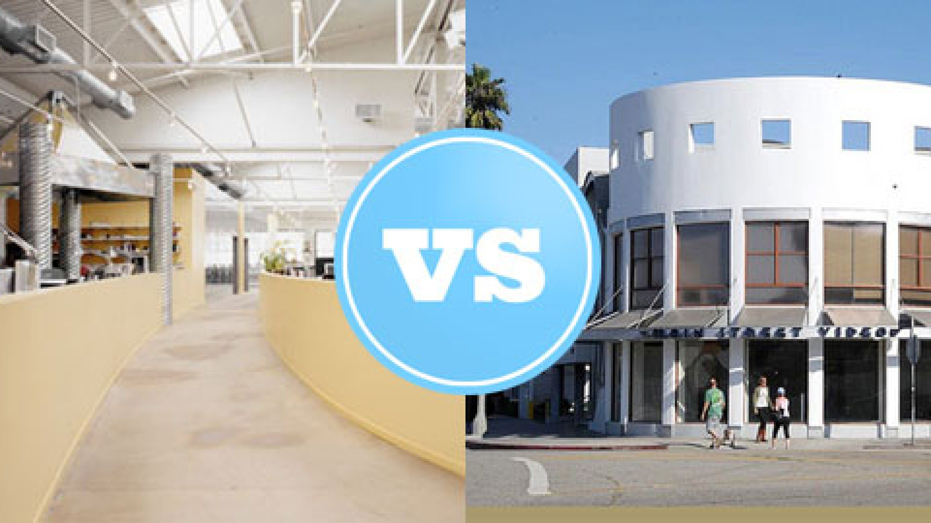 Pasadena, CA-based incubator IdeaLab on the left, Los Angeles-based accelerator Amplify on the right.