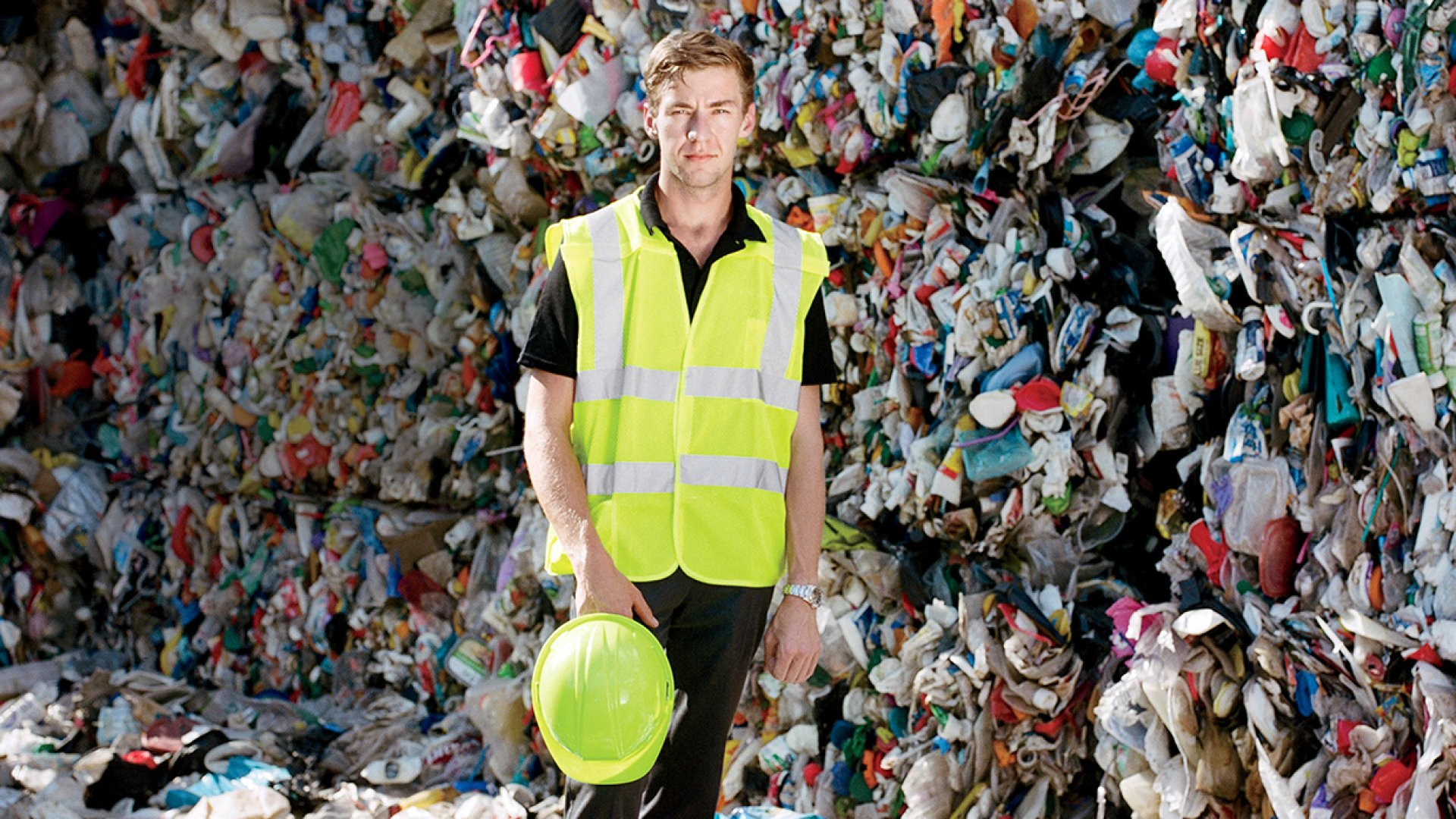 Where others see waste, Hunter Moore finds business opportunity-like in this recycling plant in Memphis that his company, Moore Advanced, staffs and cleans.