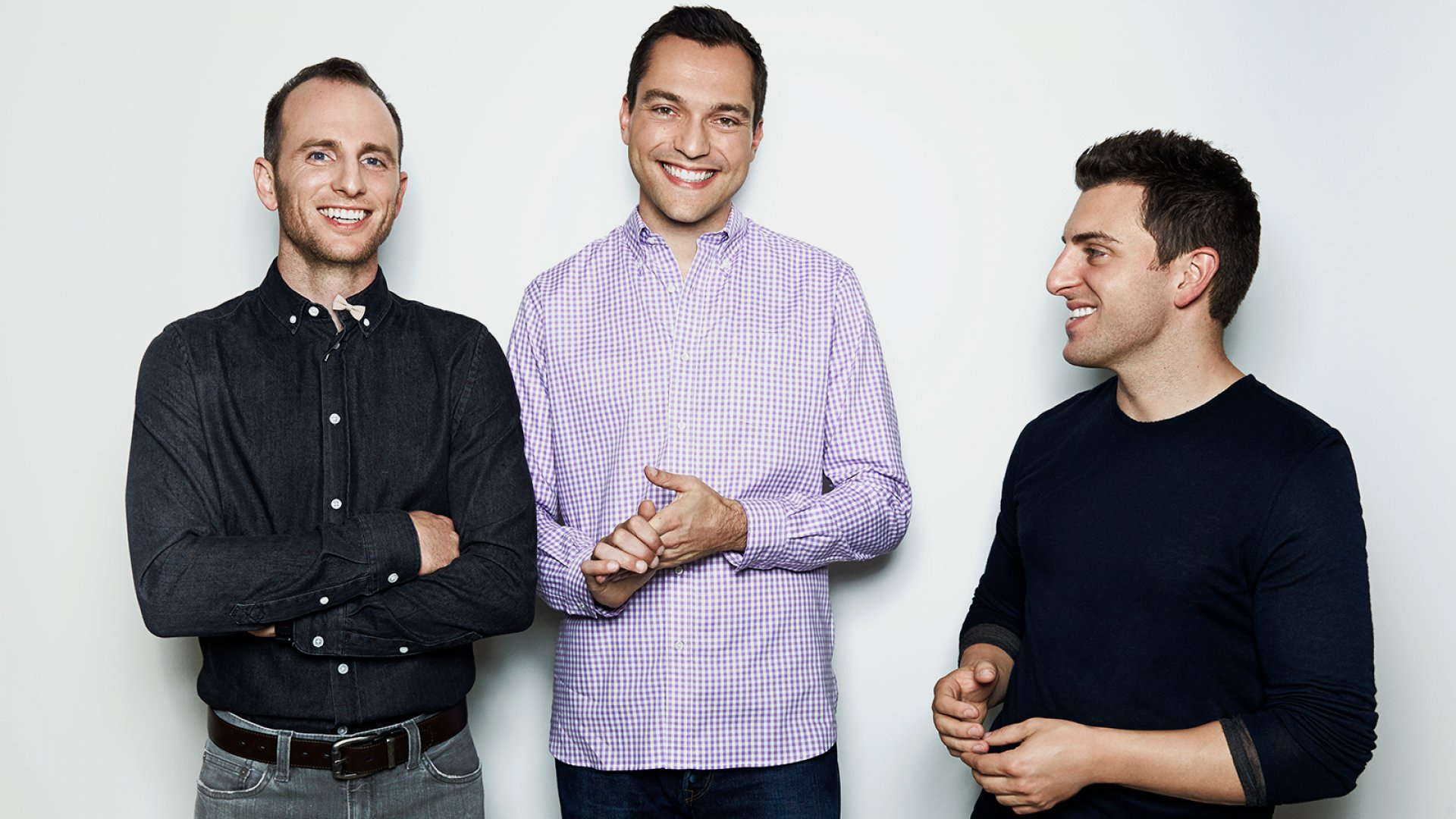 Joe Gebbia, Nathan Blecharczyk, and Brian Chesky.