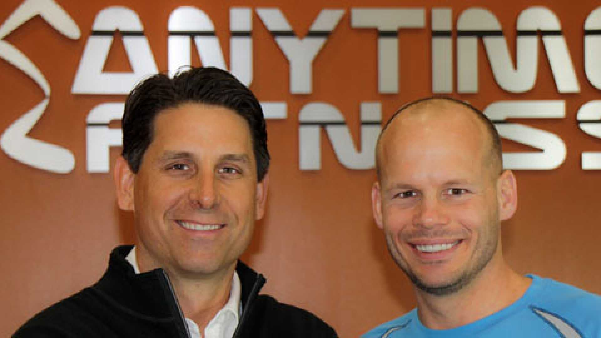 Anytime Fitness co-founders Chuck Runyon (left) and Dave Mortensen.