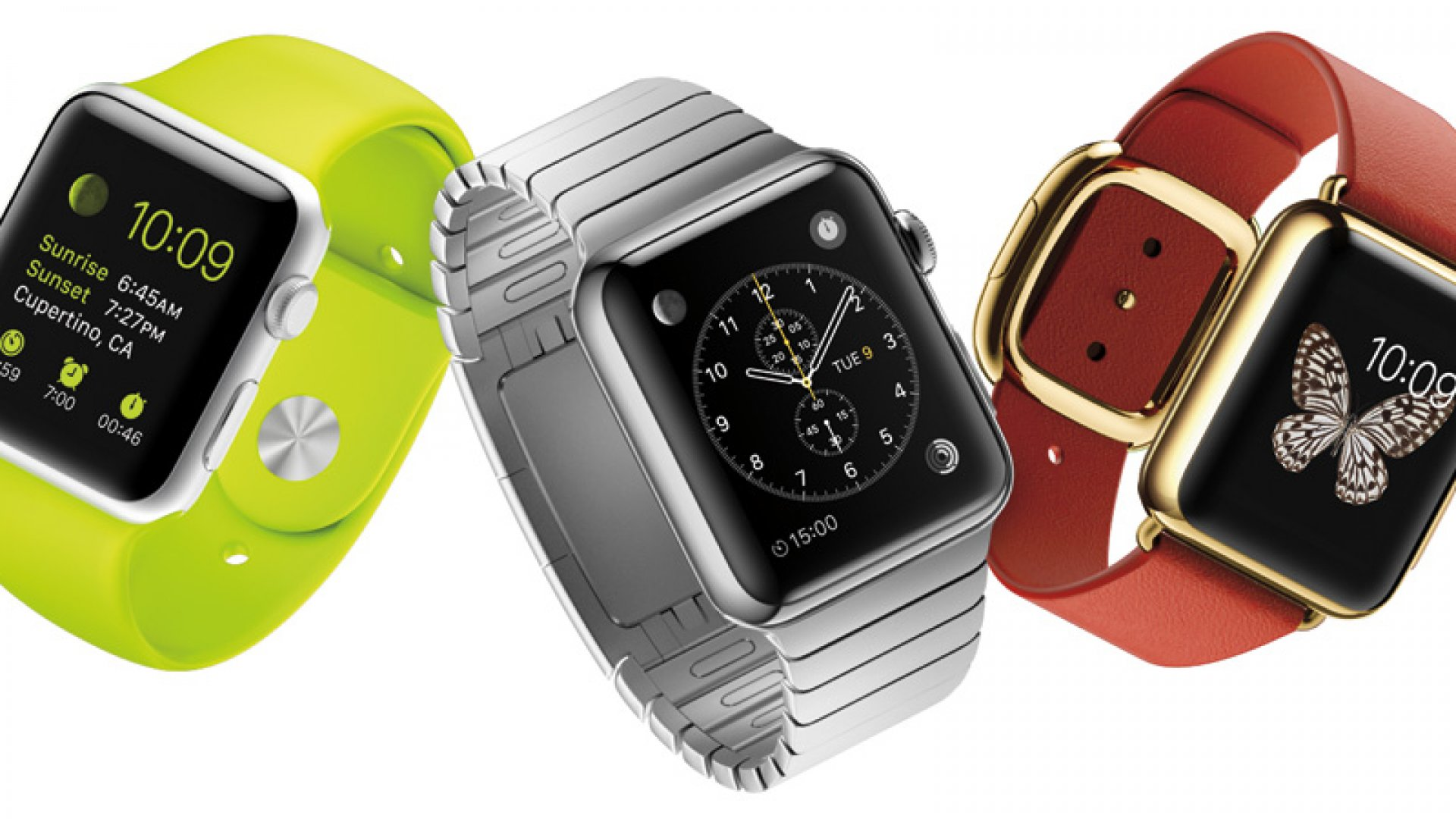 The new Apple Watch comes in three distinct design collections, which include an 18-karat gold version, a sporty style with a fluoroelastomer band in five different colors, and more.