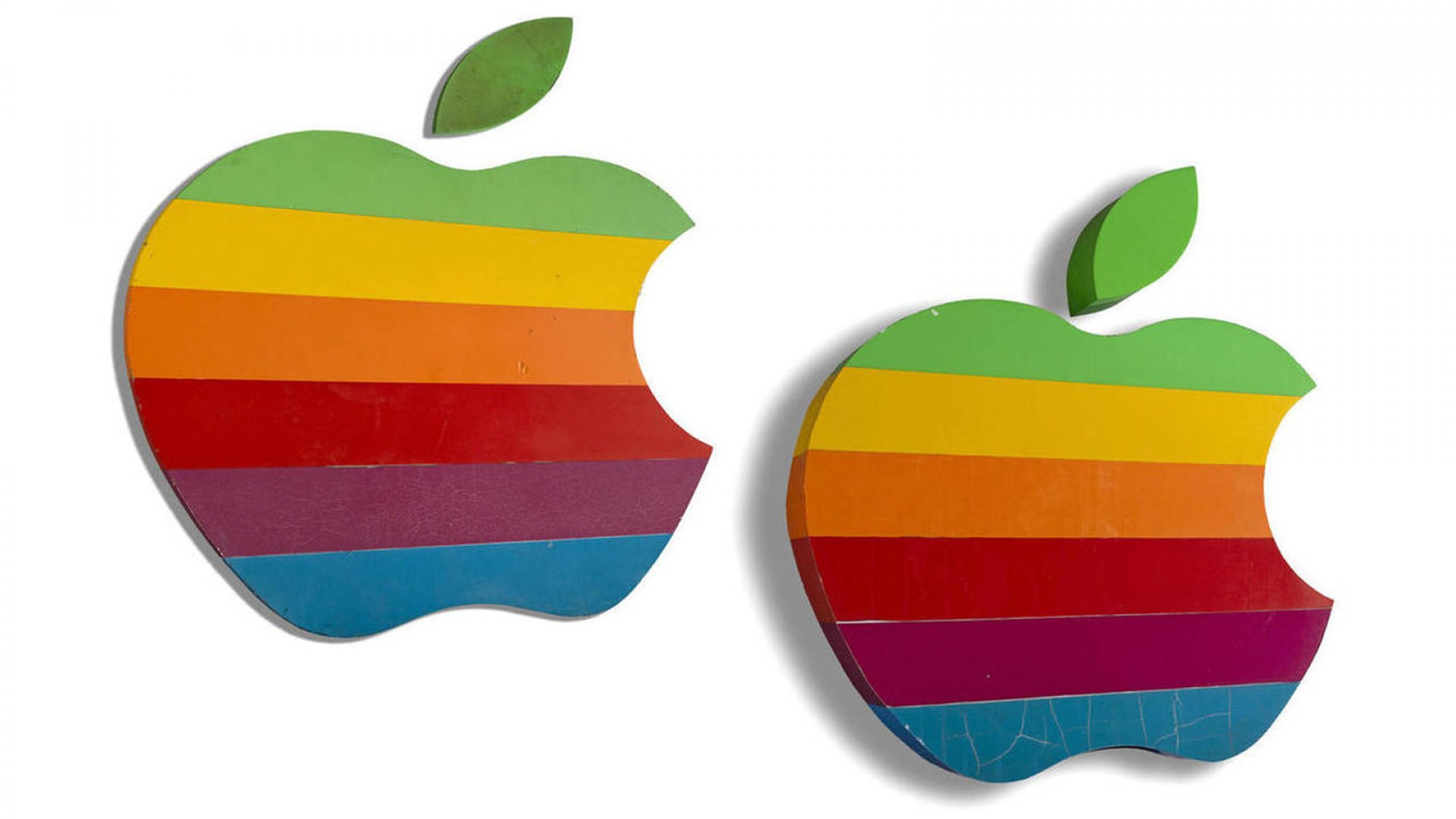 How Much Do You Think the Iconic Rainbow Apple Logos Will Sell For?