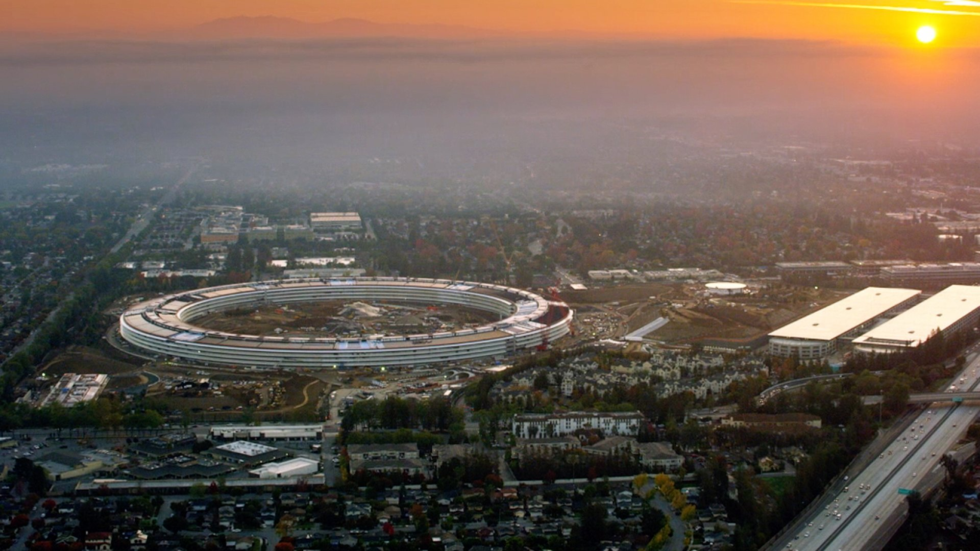 Apple's new headquarters in Cupertino, California.