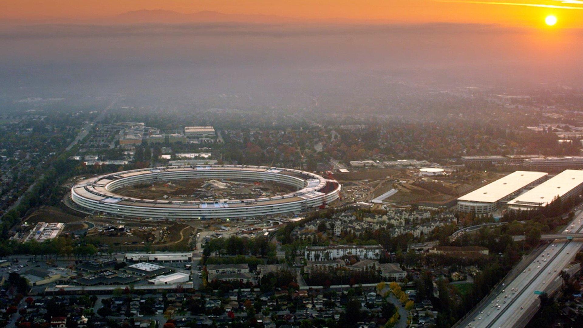Apple's new headquarters in Cupertino, California.