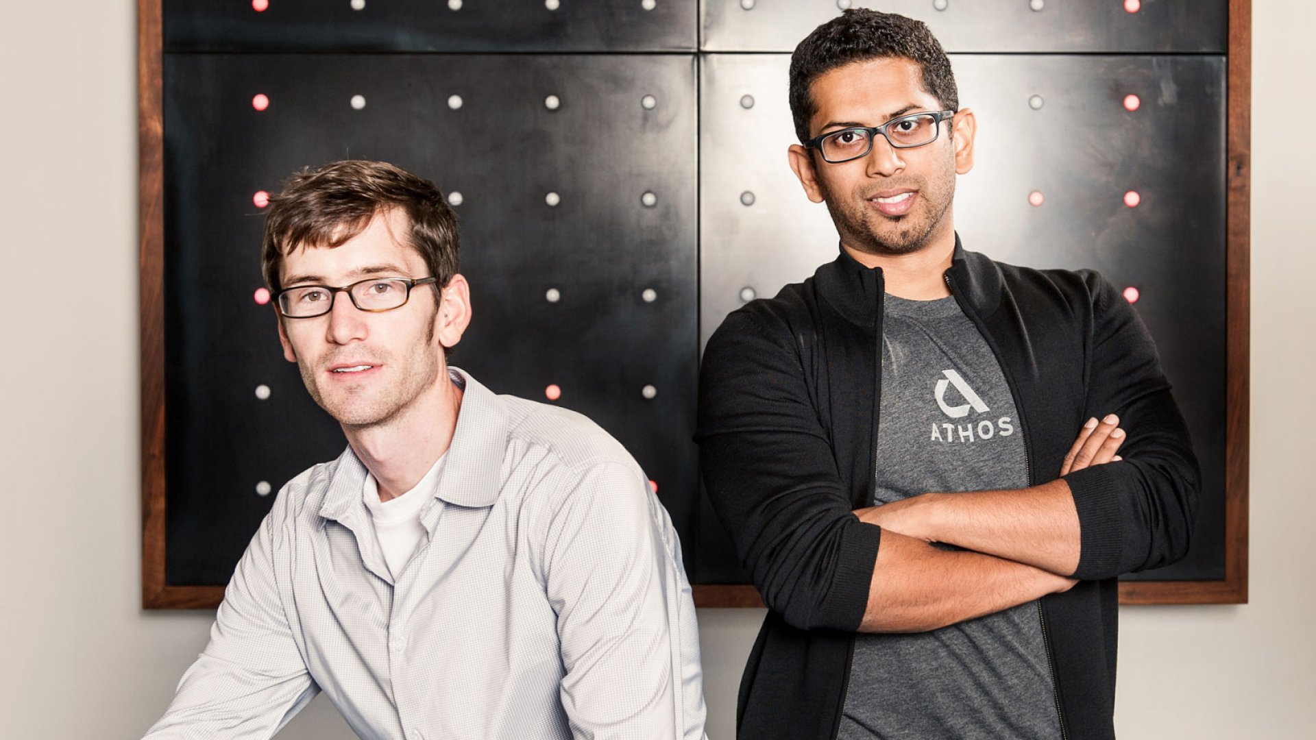 Christopher Wiebe and Dhananja Jayalath are the co-founders of Athos.