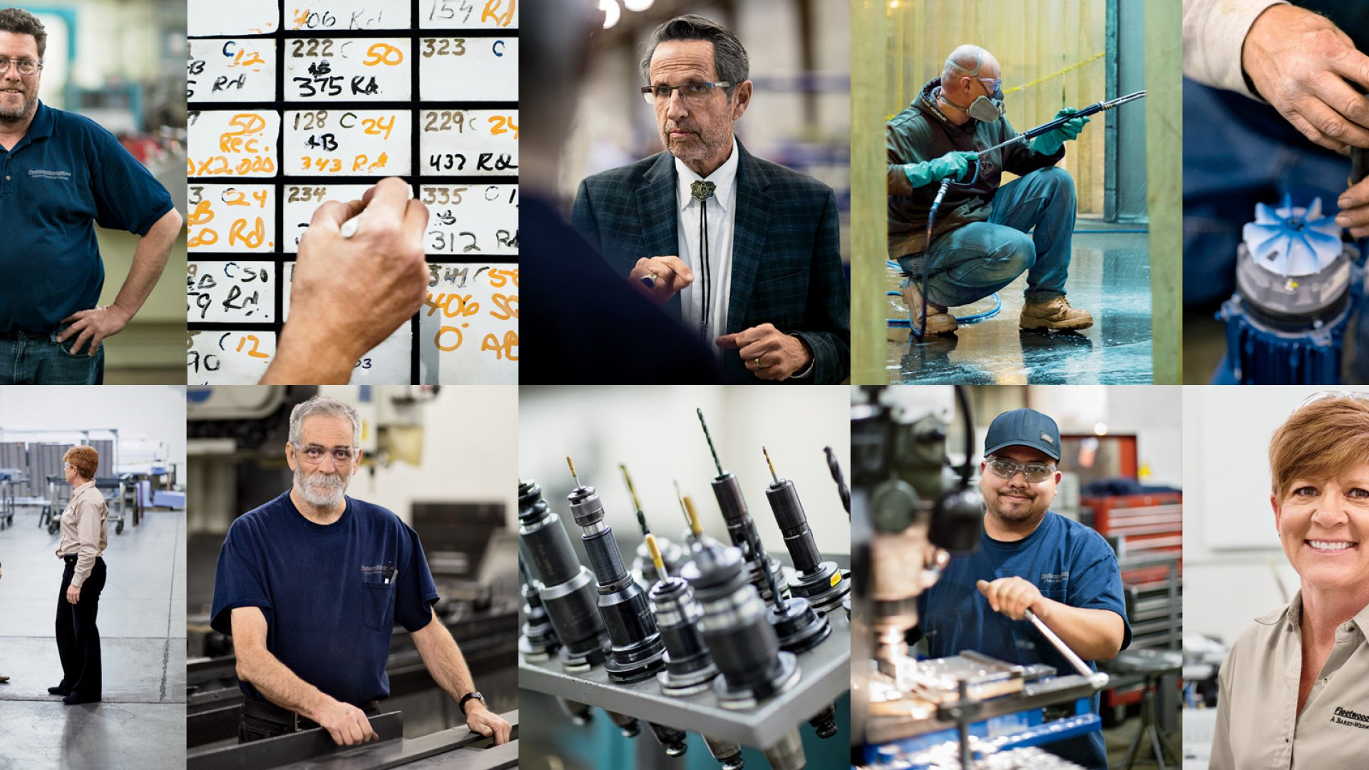 <b>Man on a mission:</b> Bob Chapman (top row, center), CEO of manufacturer Barry-Wehmiller, and the employees of the company's Loveland, Colorado factory. Chapman believes that the only bottom line that matters is how leaders treat people.