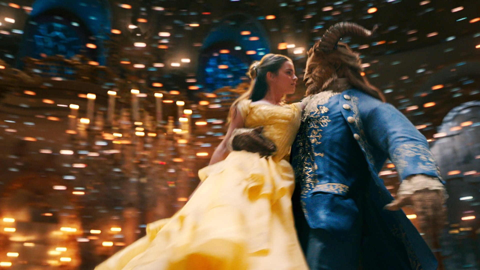 Emma Watson and Dan Stevens in Disney's <em>Beauty and the Beast.</em>