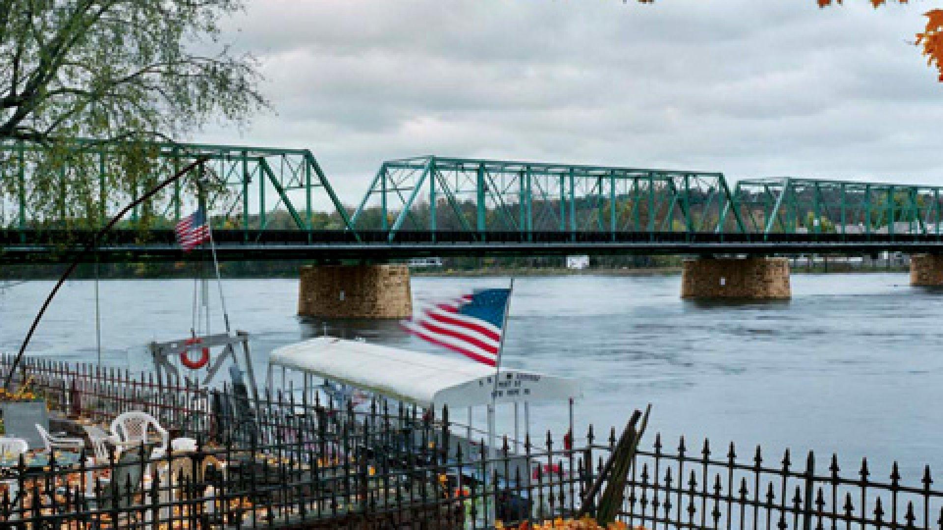 New Hope-Lambertville Bridge, Delaware River, New Hope, Pennsylvania
